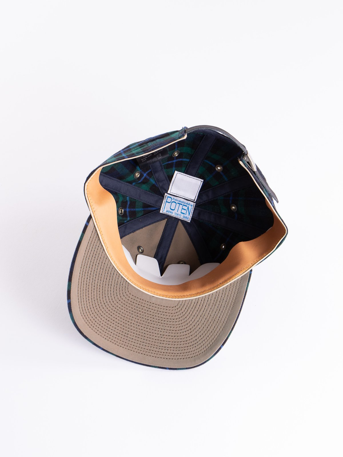 Navy Japanese Flannel Cap - Image 4