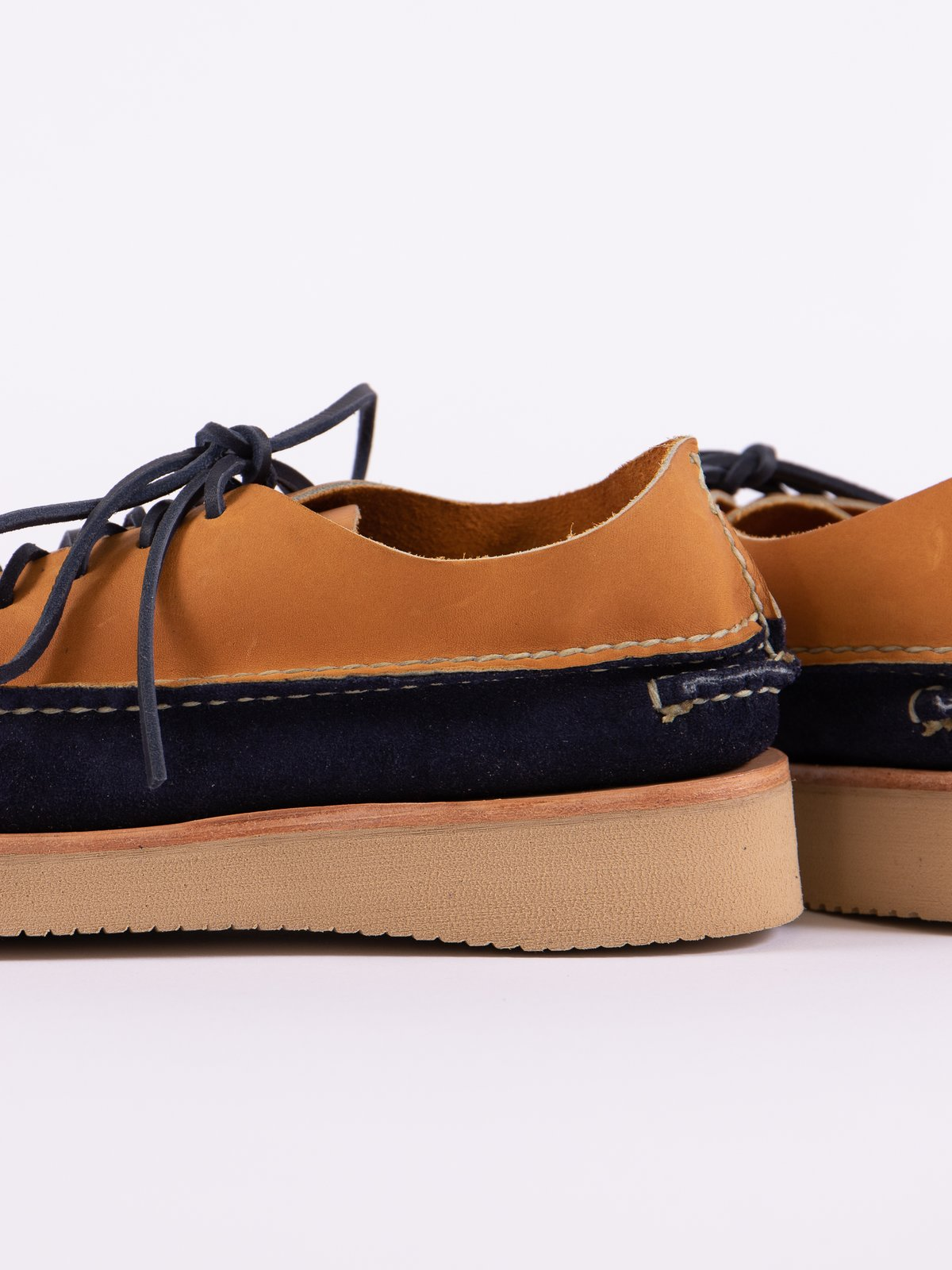 Indigo/Tan All Handsewn Sneaker Moc Ox Exclusive - Image 4