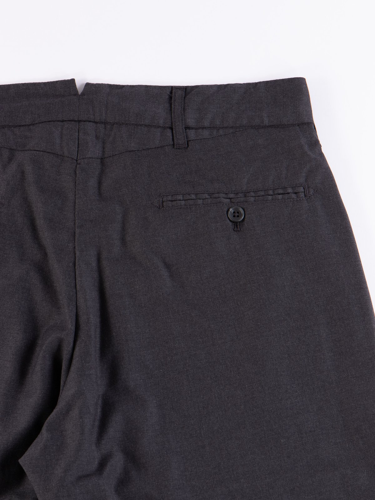 Charcoal Worsted Wool Gabardine Andover Pant - Image 6