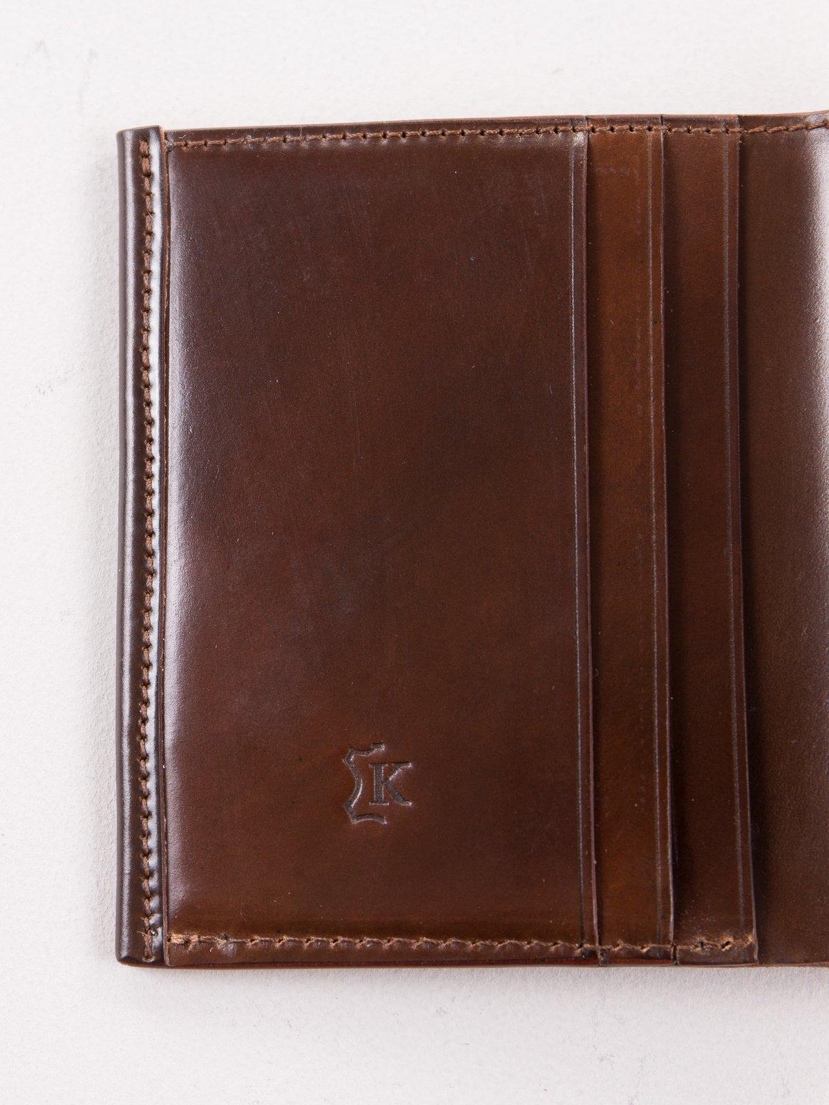 Color 8 Horween Cordovan 3–3 Wallet - Image 3