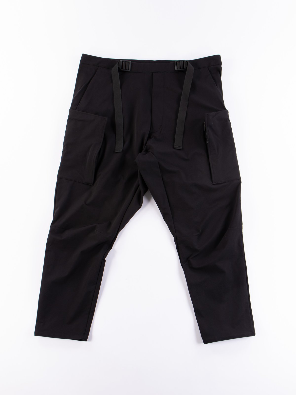 P31A–DS Black Schoeller Dryskin Drawcord Cargo Trouser - Image 1
