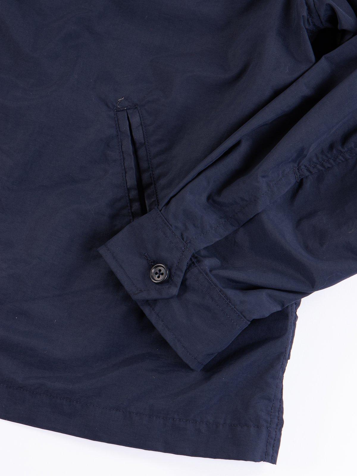 Navy Acrylic Coated Nylon Taffeta Driver Jacket - Image 4