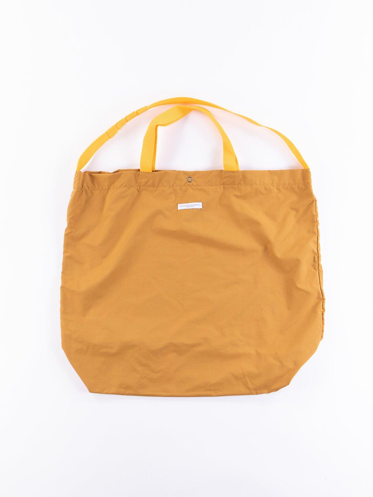 Mustard Acrylic Coated Nylon Taffeta Carry All Tote - Image 1