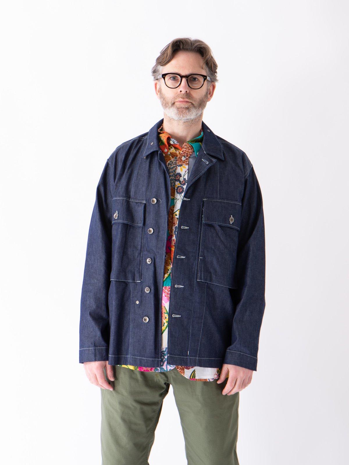 Indigo 8oz Cone Denim M43/2 Shirt Jacket - Image 3