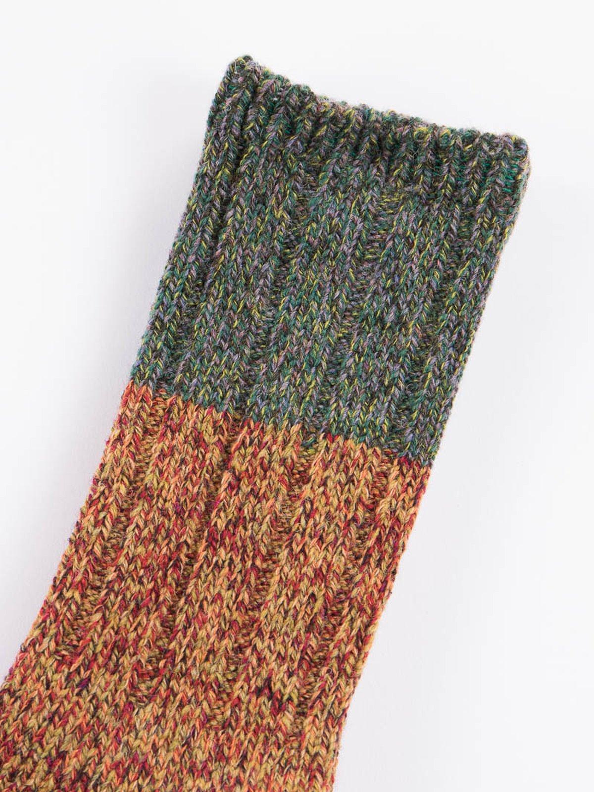 Green Van Gogh Wool Socks - Image 2