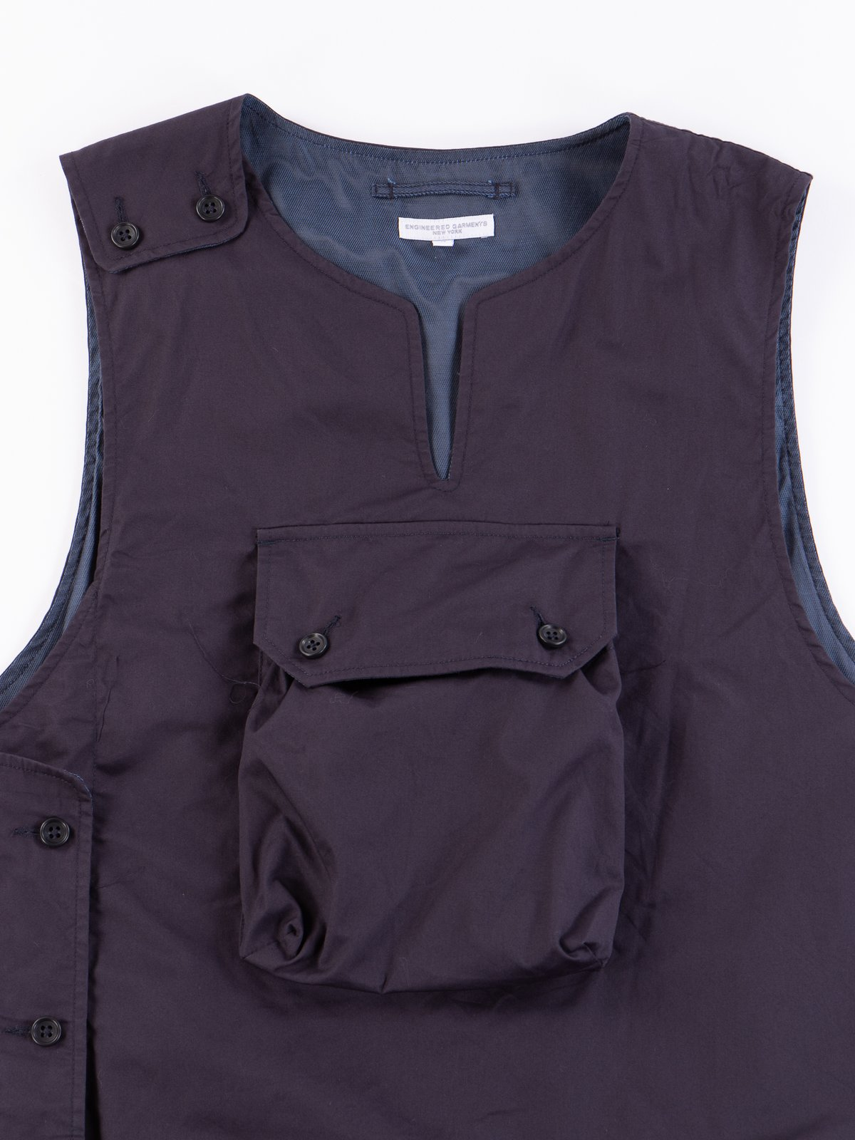 Dark Navy High Count Twill Cover Vest - Image 3