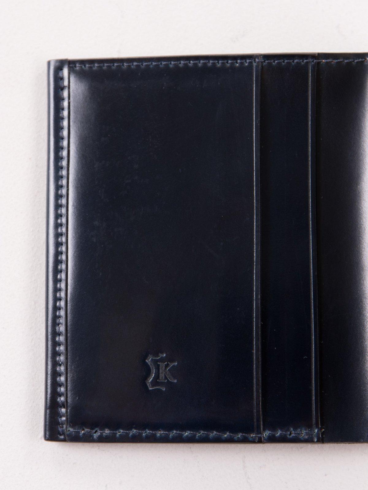 Navy Horween Cordovan 2–2 Wallet - Image 3