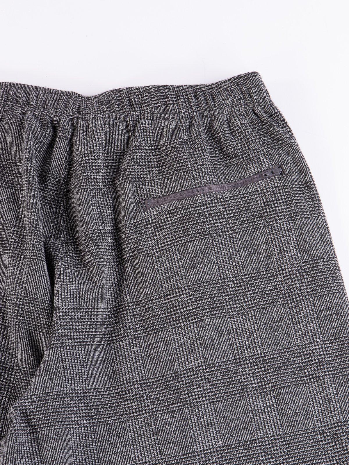 Grey PC Knit Glen Plaid Jog Pant - Image 7