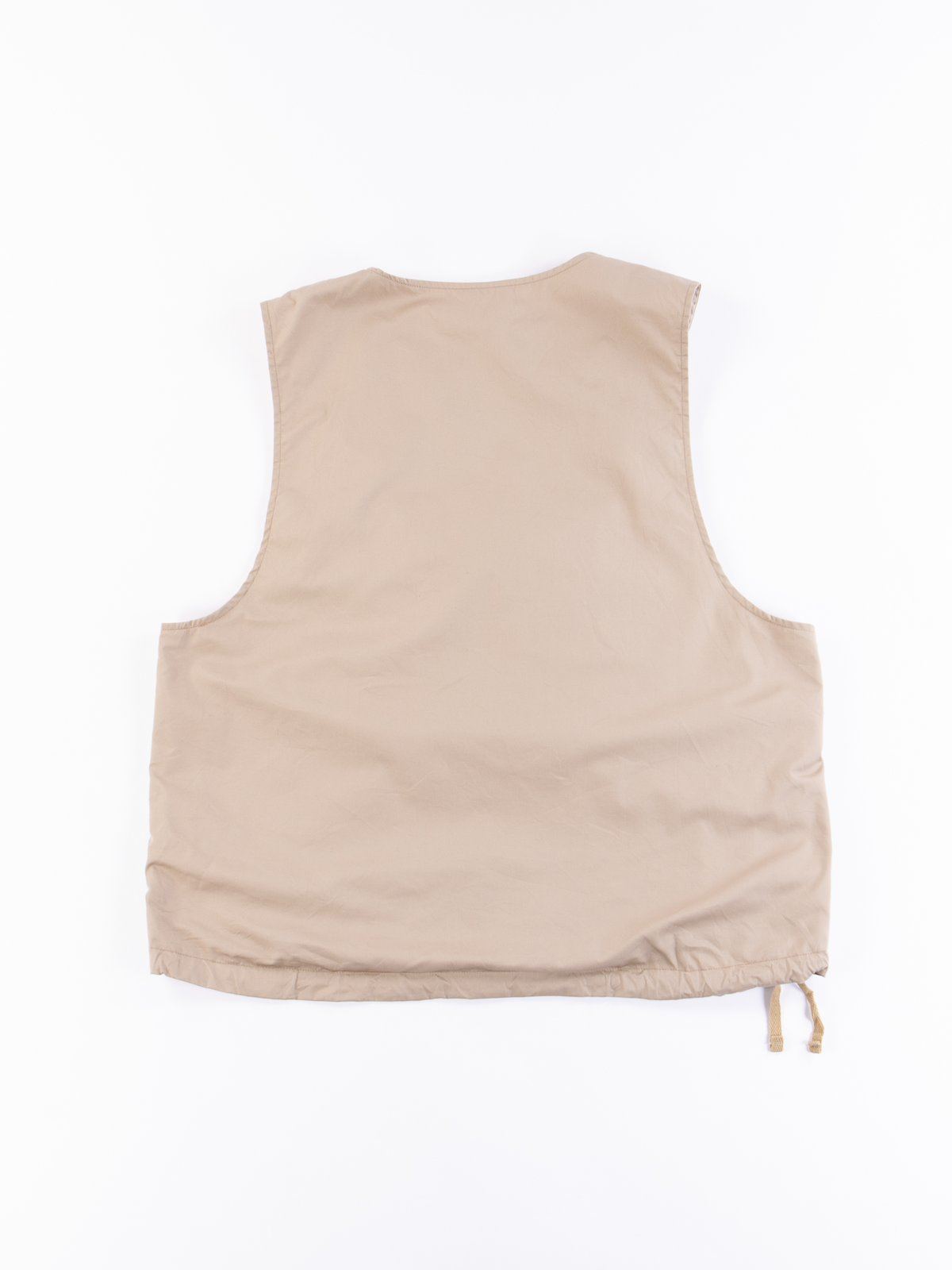 Khaki High Count Twill Cover Vest - Image 5