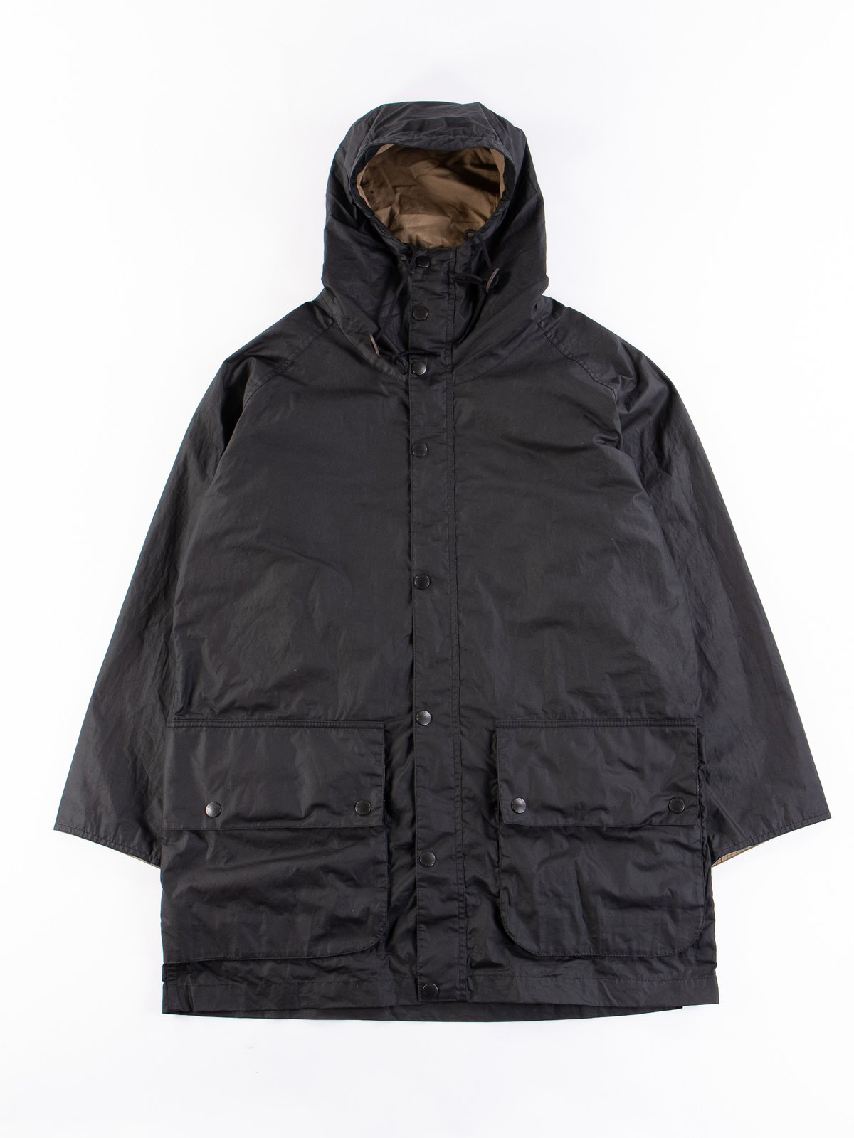 Black Hiking Waxed Cotton Jacket - Image 1