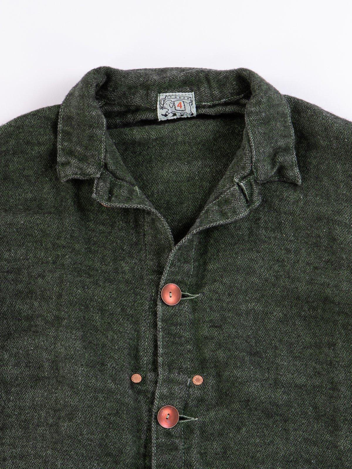 Viridian/Black Cotton/Mohair Janus Jacket - Image 2