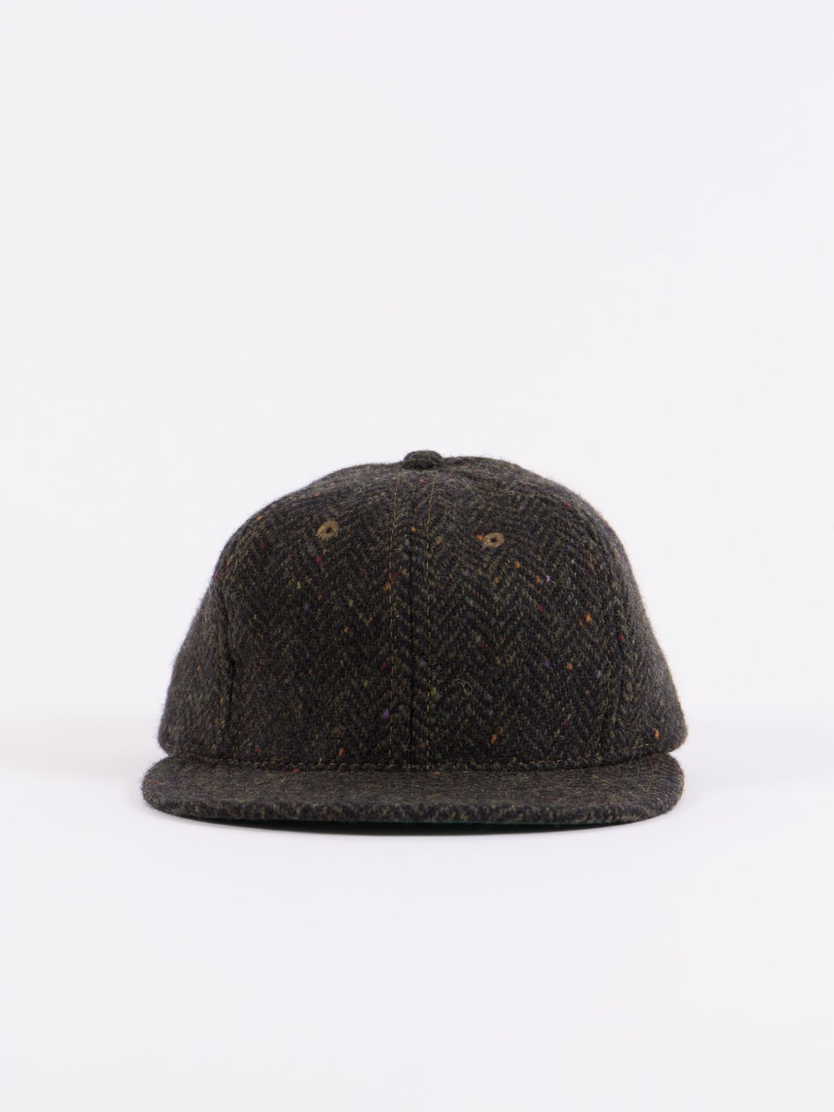 Olive HB Tweed NIer 6 Panel Ballcap - Image 3