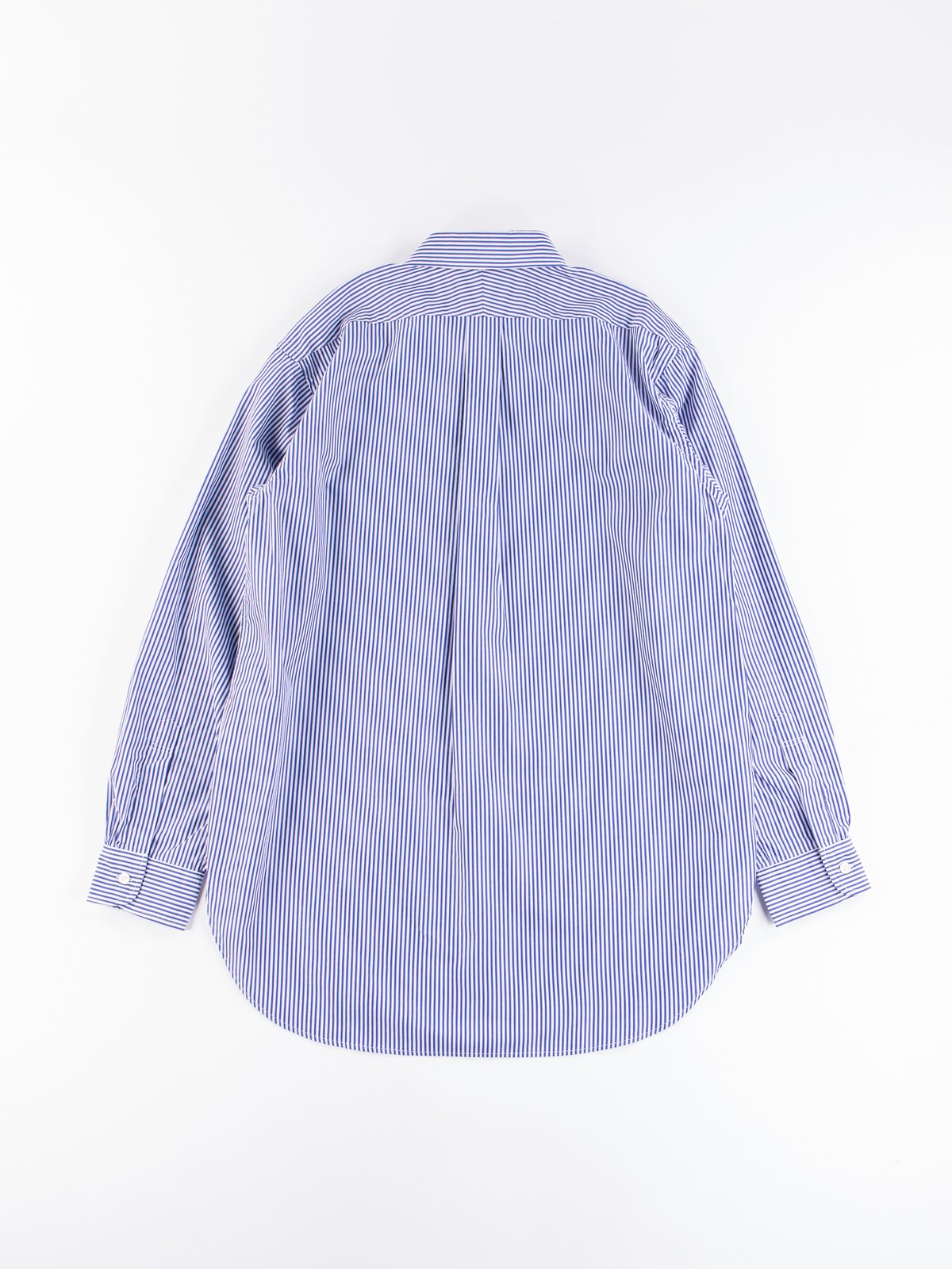 Blue/White Candy Stripe Broadcloth 19th Century BD Shirt - Image 6