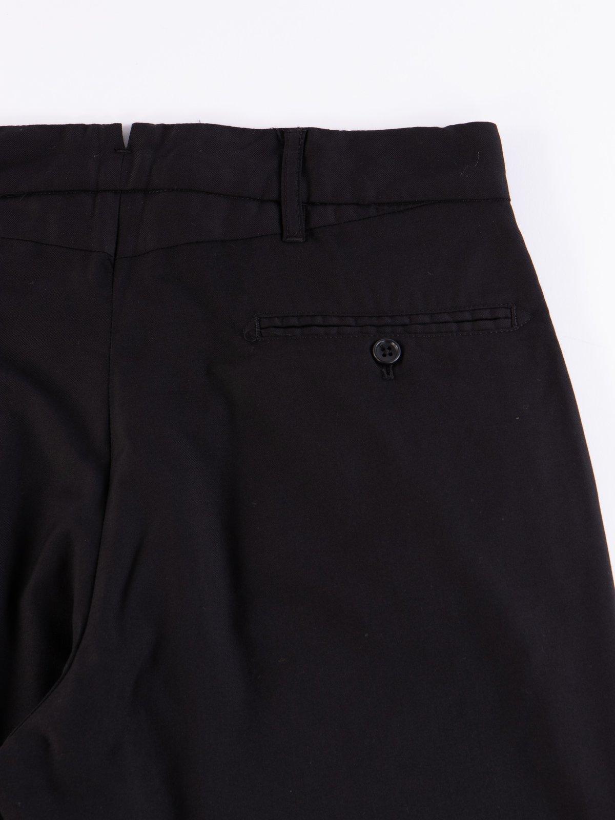 Black Worsted Wool Gabardine Andover Pant - Image 5