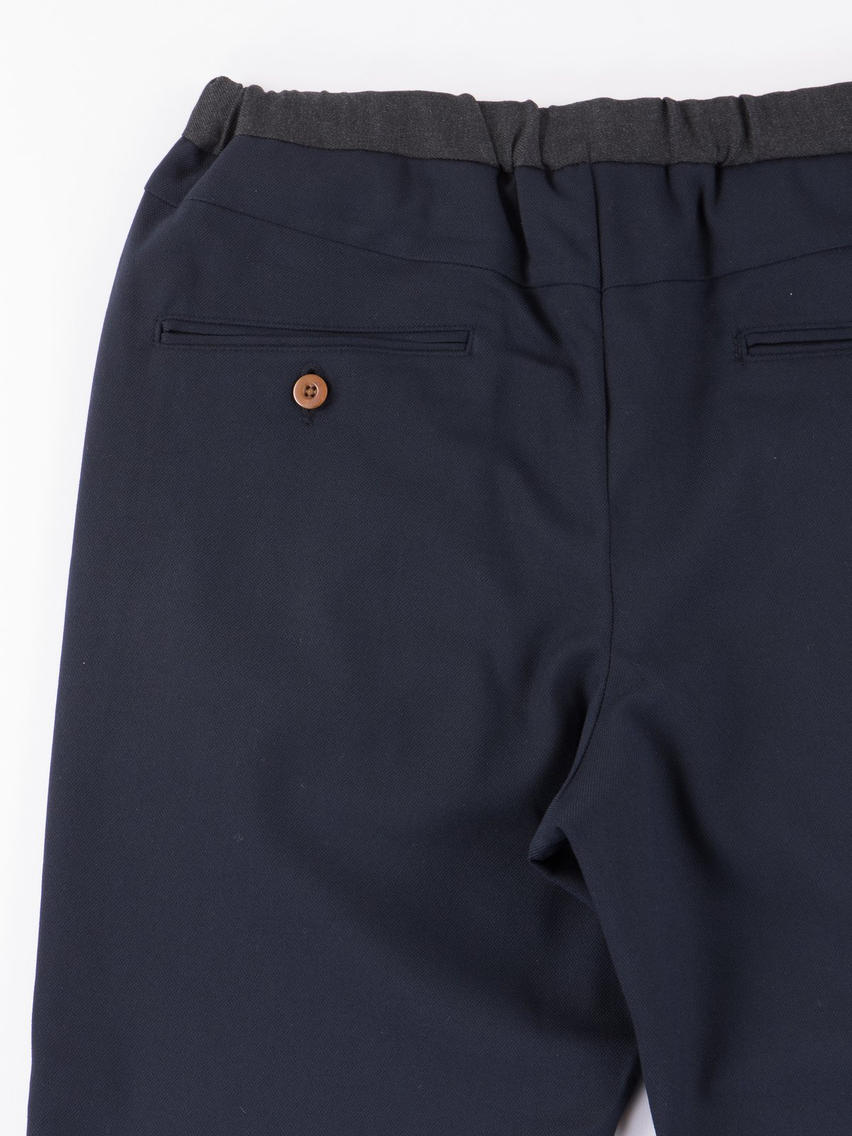 Dark Navy Slim Easy Slacks - Image 3