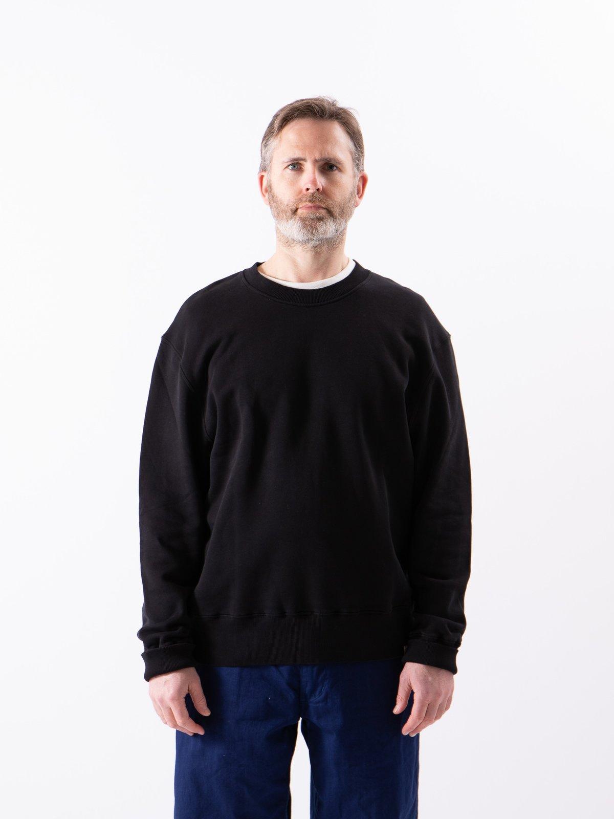 Deep Black Good Basics CSWOS01 Oversized Crew Neck Sweater - Image 2