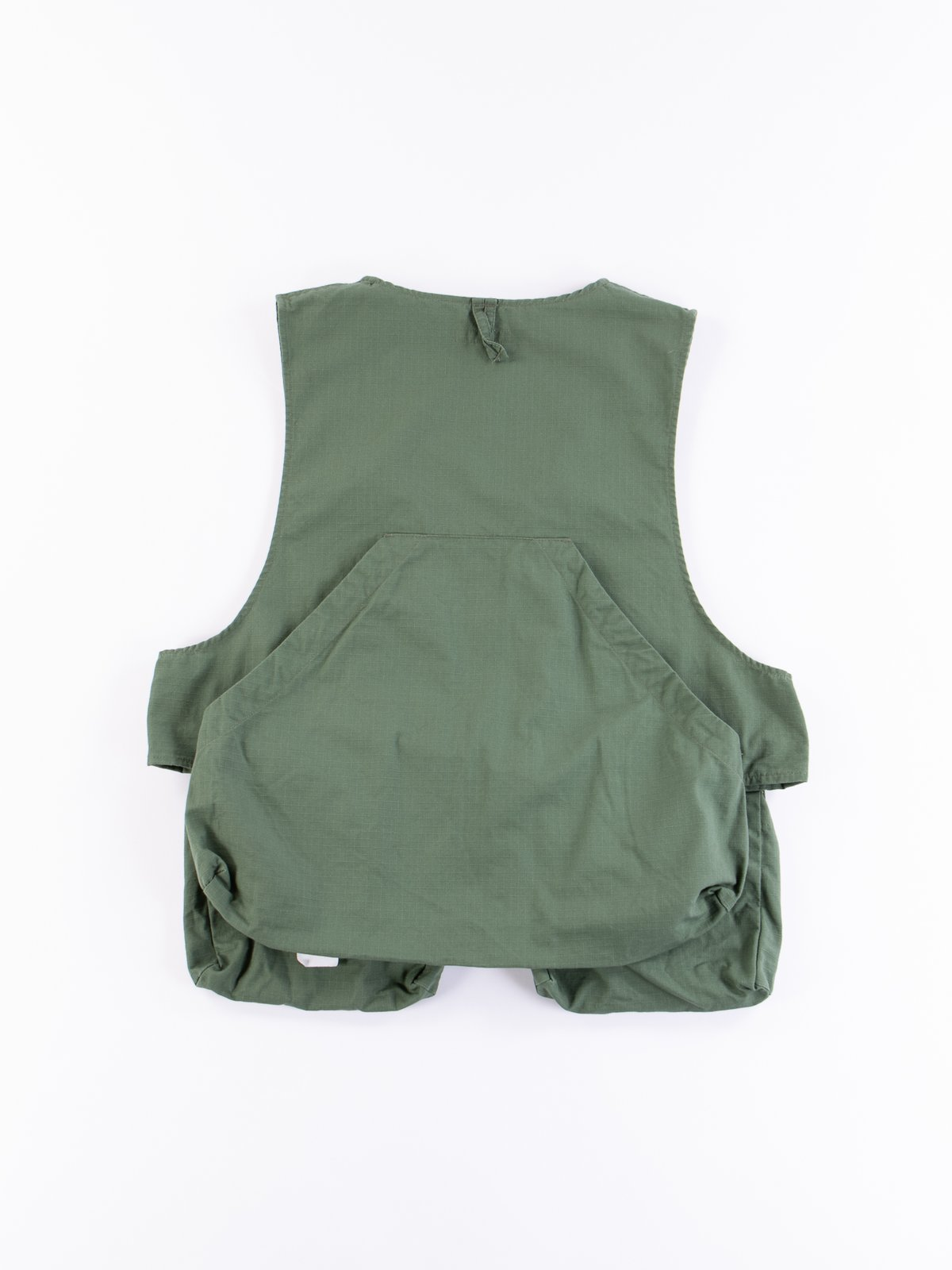 Olive Cotton Ripstop Fowl Vest - Image 5