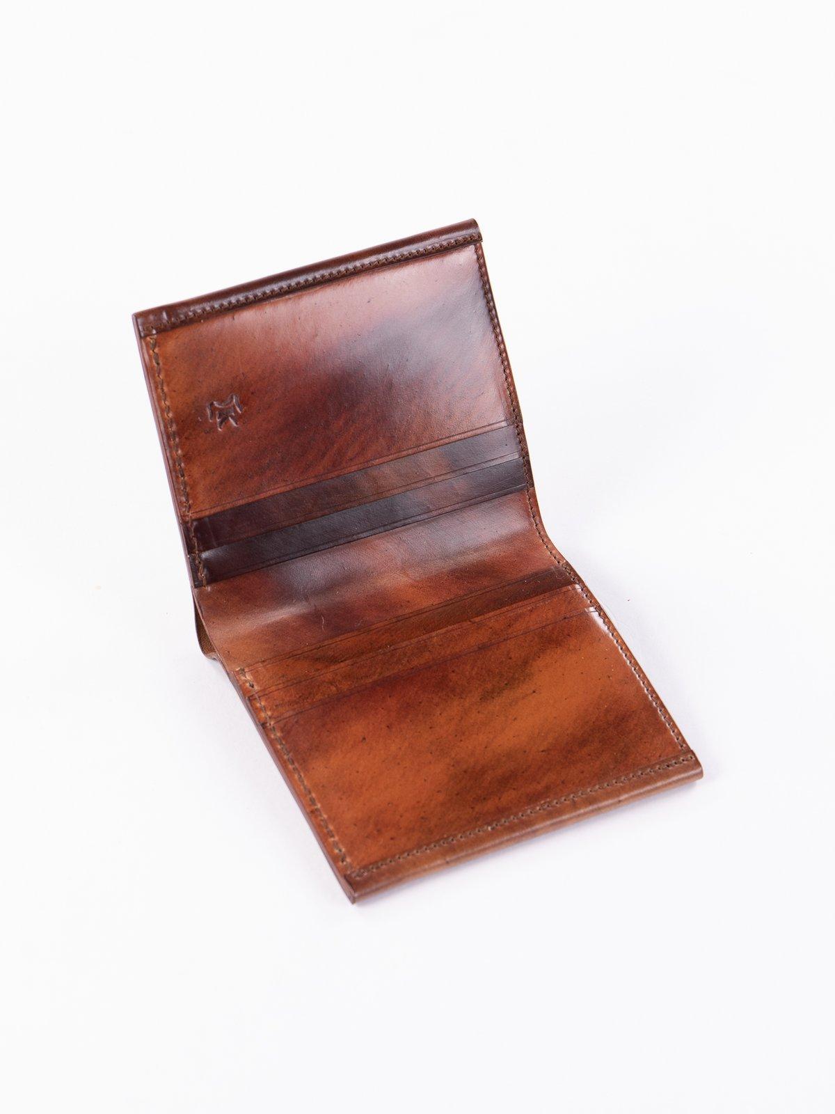 Washed Color 8 Horween Cordovan 3–3 Wallet - Image 2