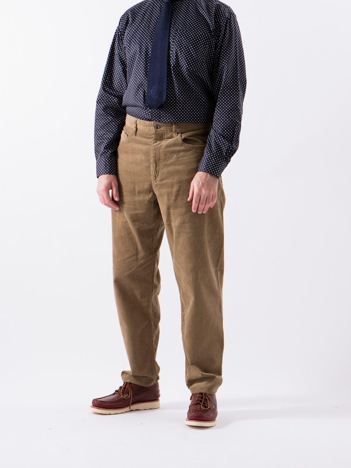 Khaki 14W Corduroy Wide Peg Jean - Image 2