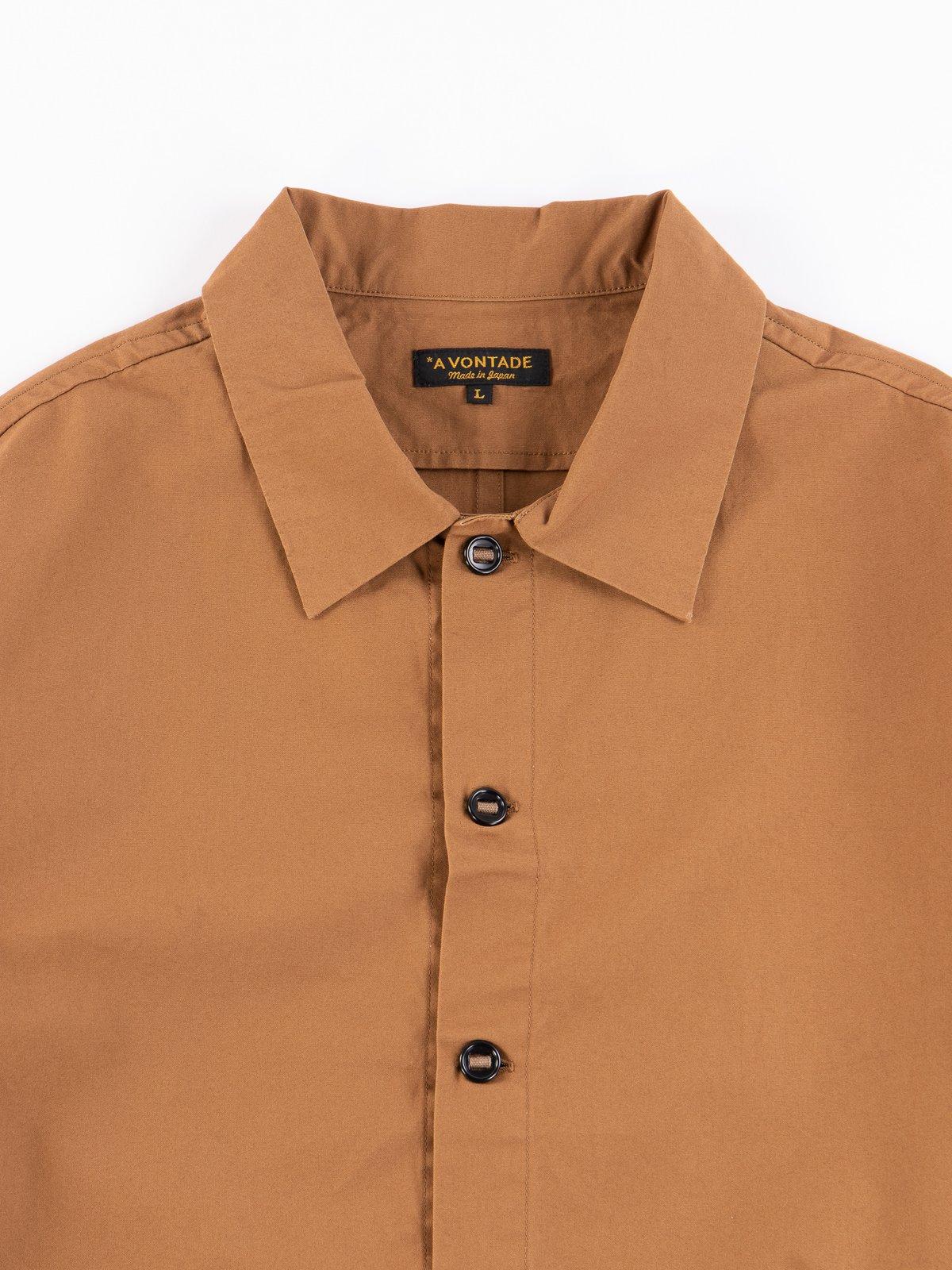 Tan Gardener Oxford Shirt Jacket - Image 3