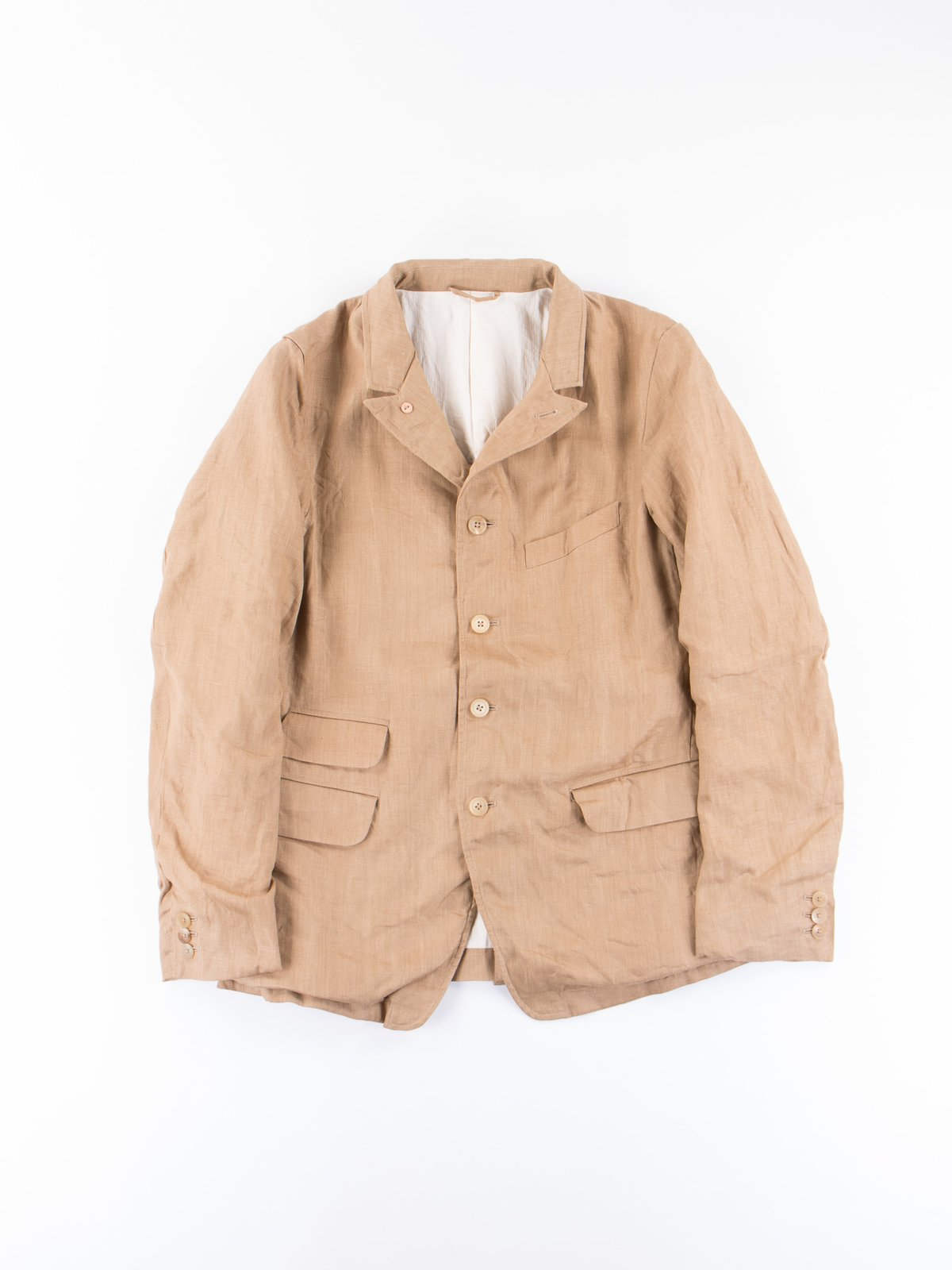 Beige Linen Old Potter Jacket - Image 1