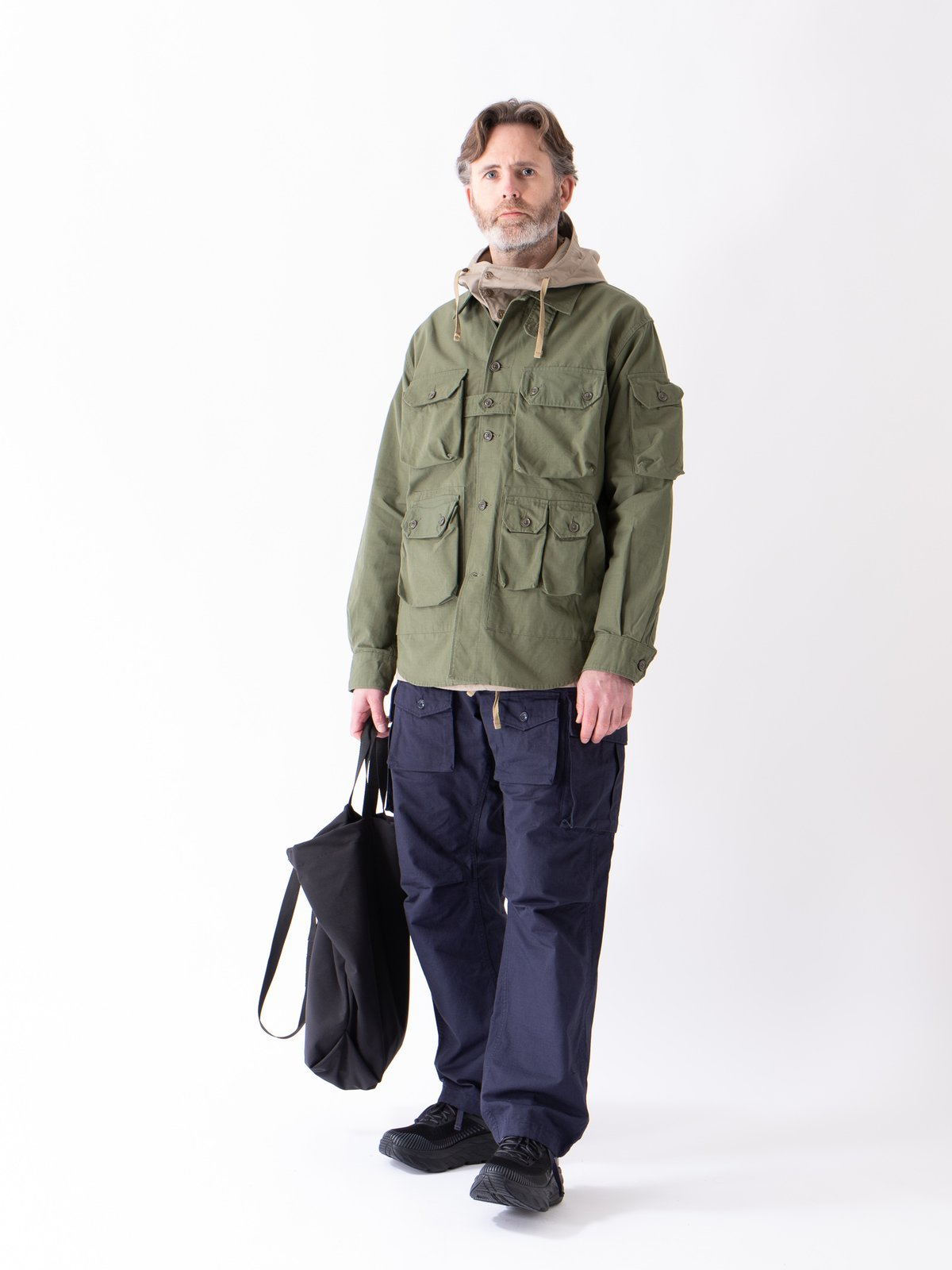 Olive Cotton Ripstop Explorer Shirt Jacket - Image 2