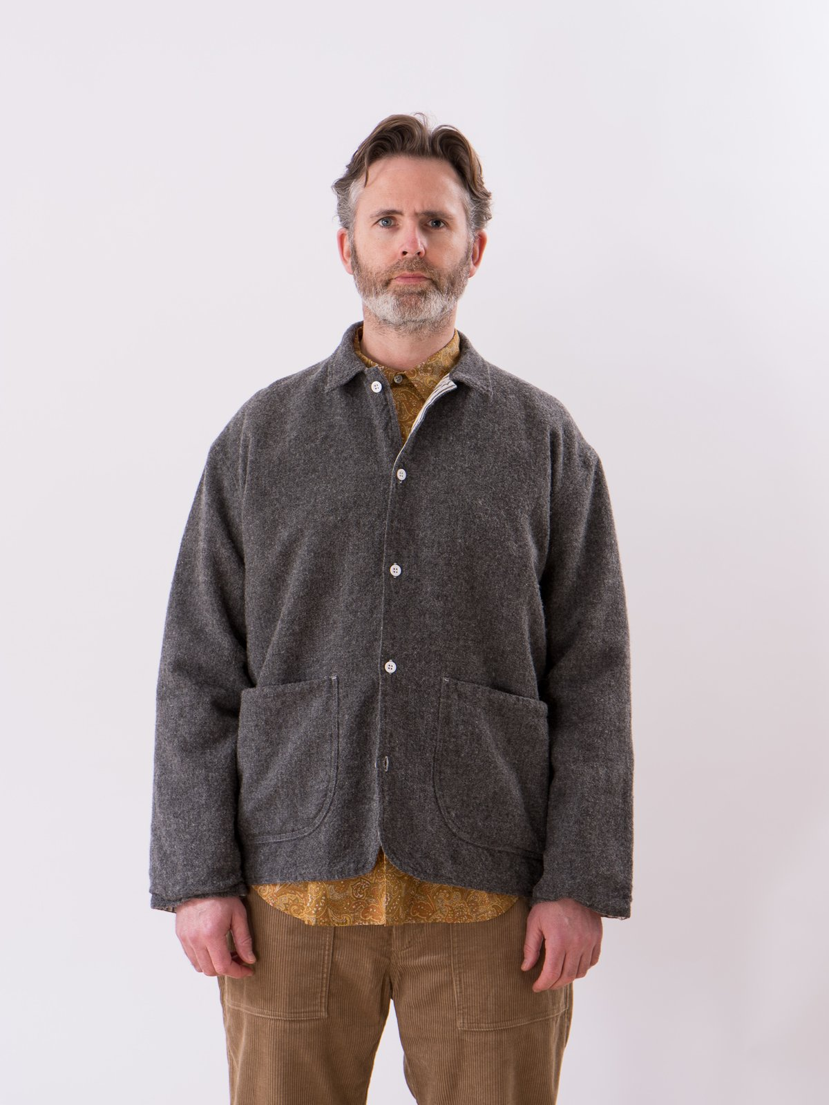Charcoal Weavers Stock Curve Front Jacket - Image 2