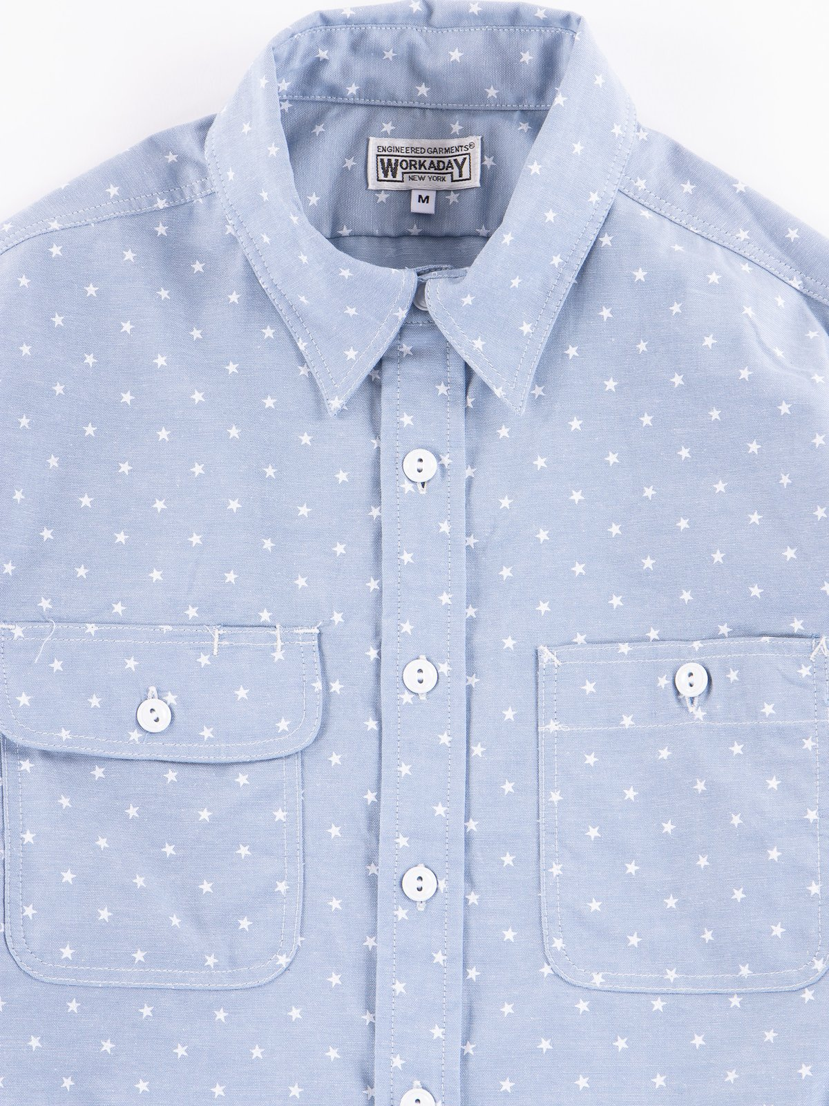 Light Blue Star Chambray Utility Shirt - Image 2