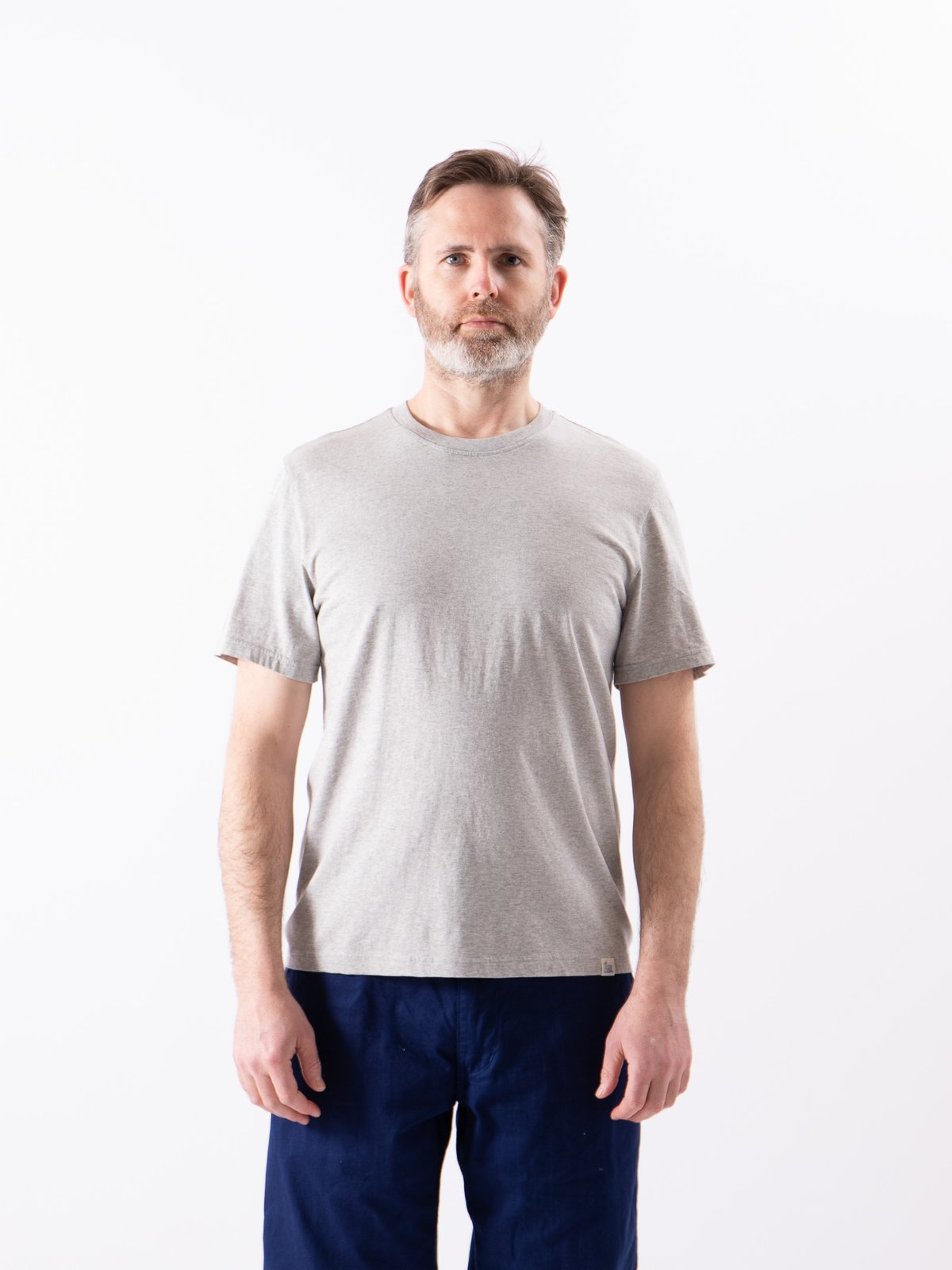 Grey Melange Good Basics CTOS01 Oversized Crew Neck Tee - Image 2