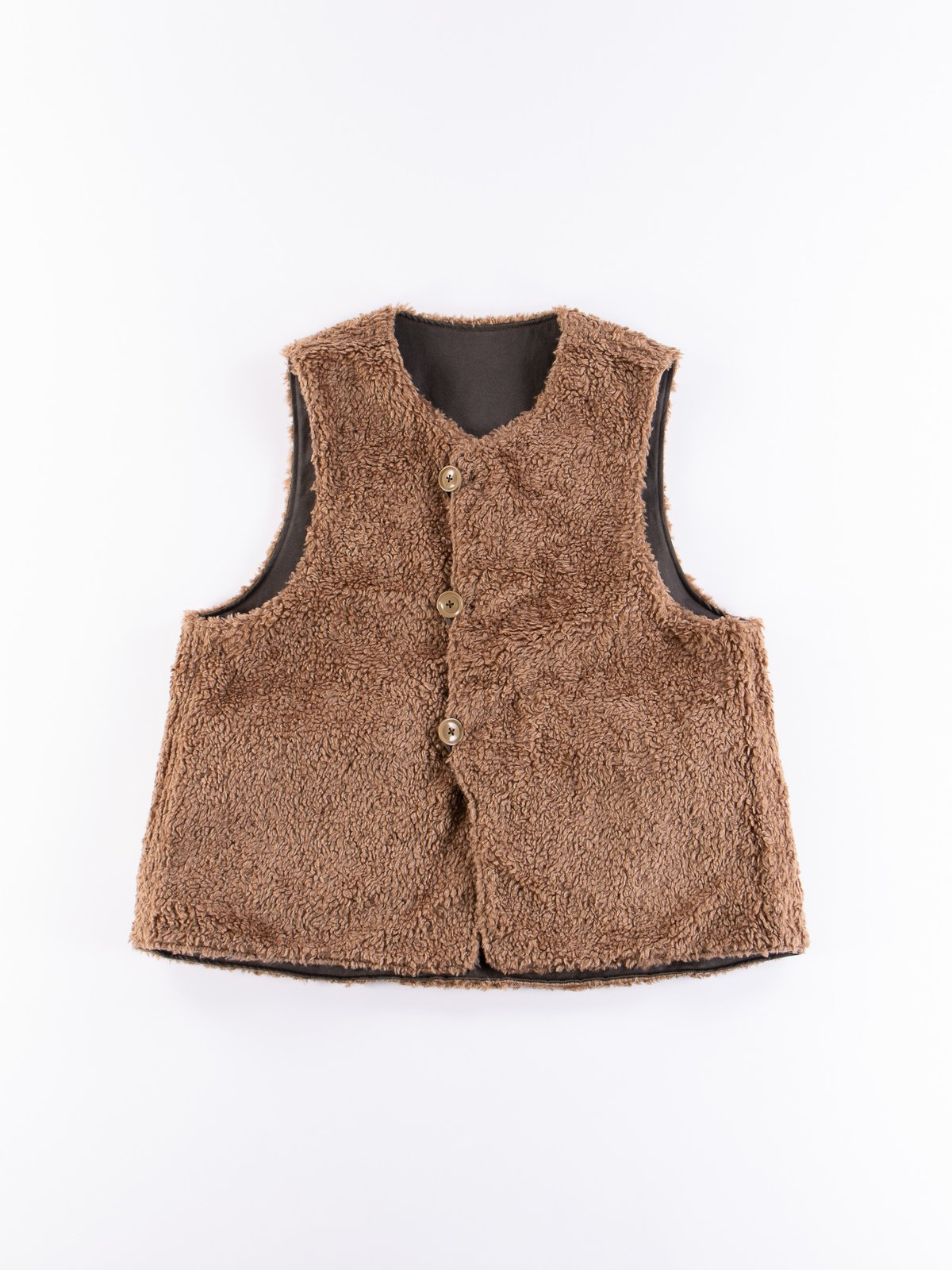 Dark Olive Coated Twill Over Vest - Image 6