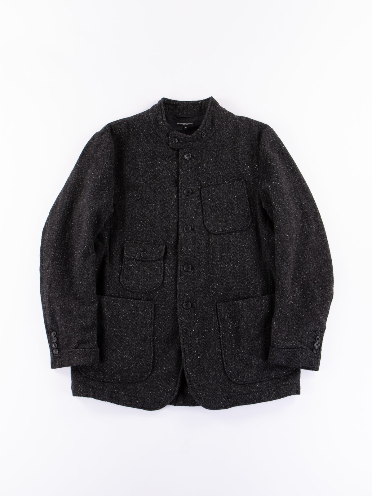 Charcoal HB Tweed Grim Jacket - Image 1