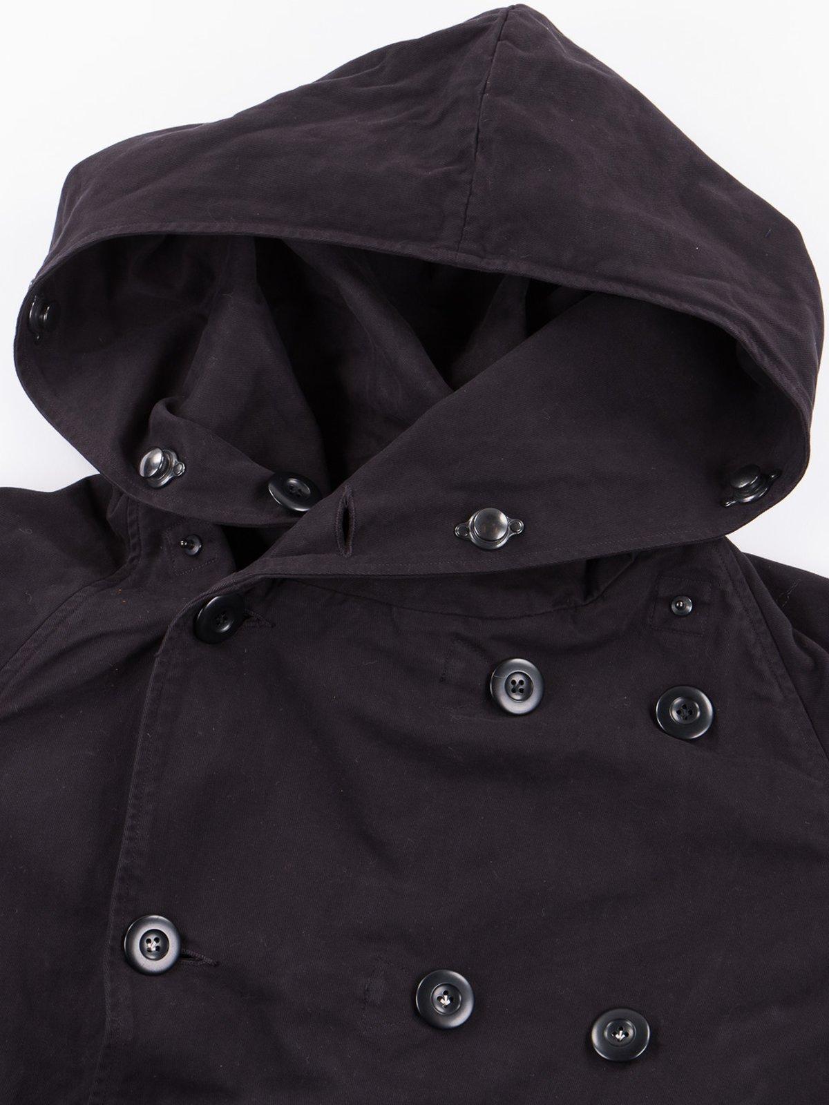 Black Brushed Twill Tri–P Ring Coat - Image 7