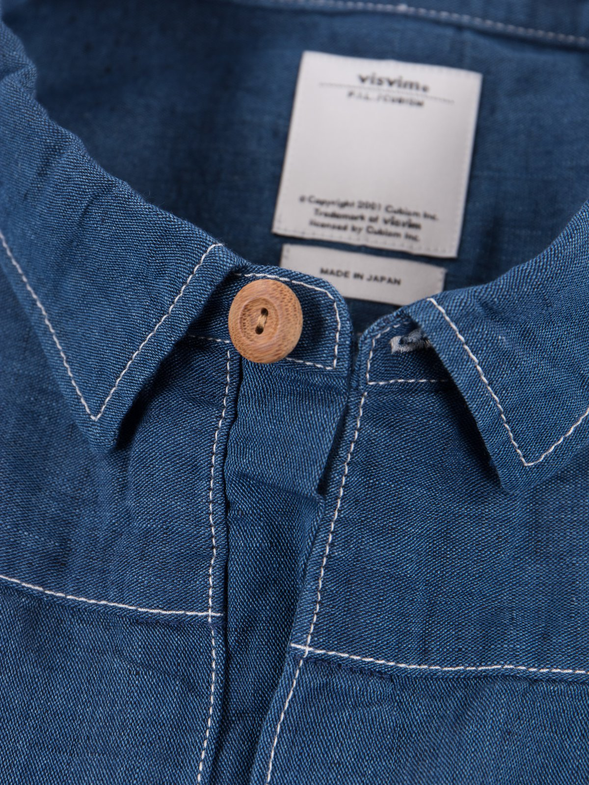 Navy Chambray Kerchief Tunic Shirt - Image 4