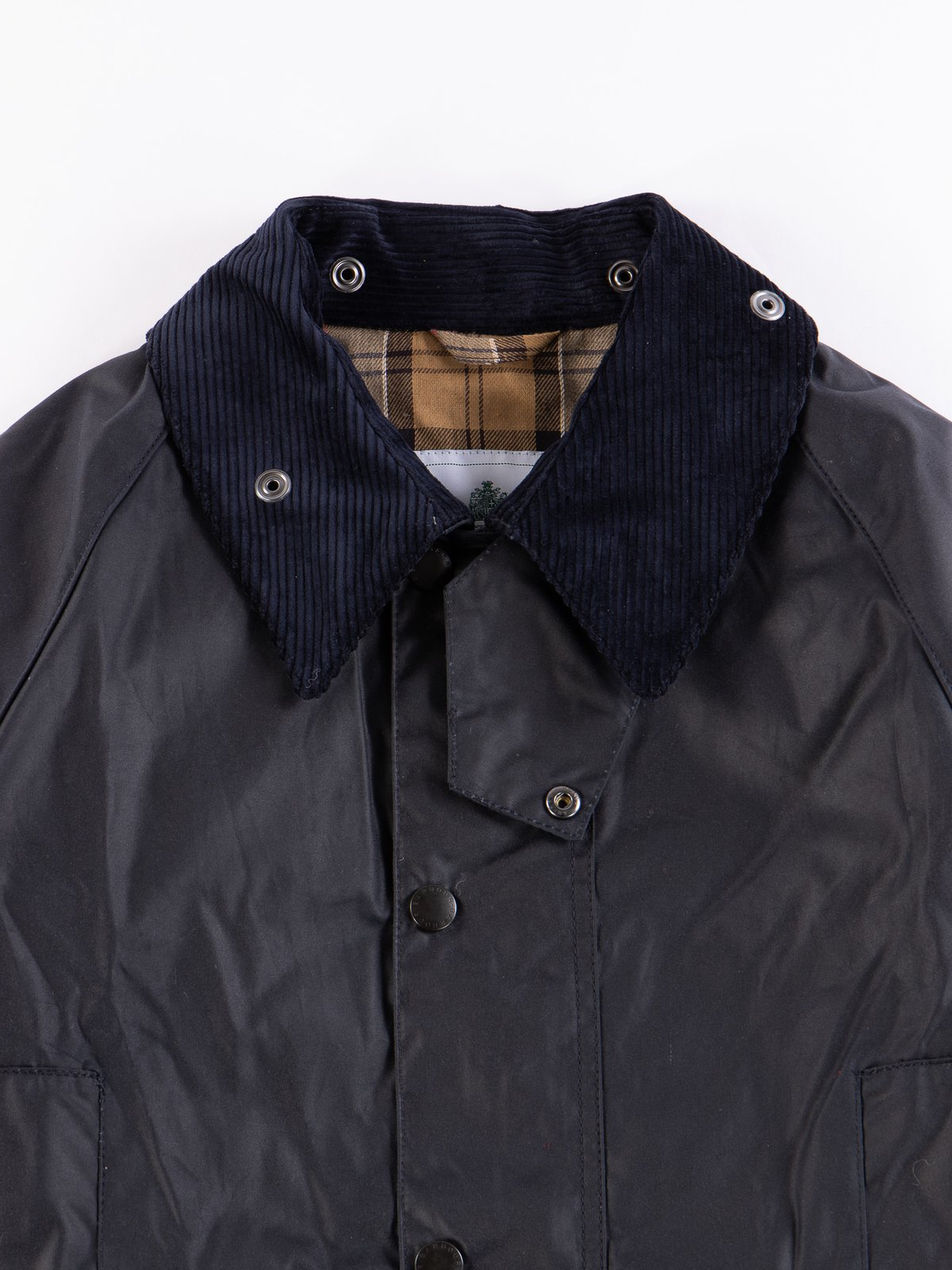 Navy Oversized Beaufort Waxed Cotton Jacket - Image 2