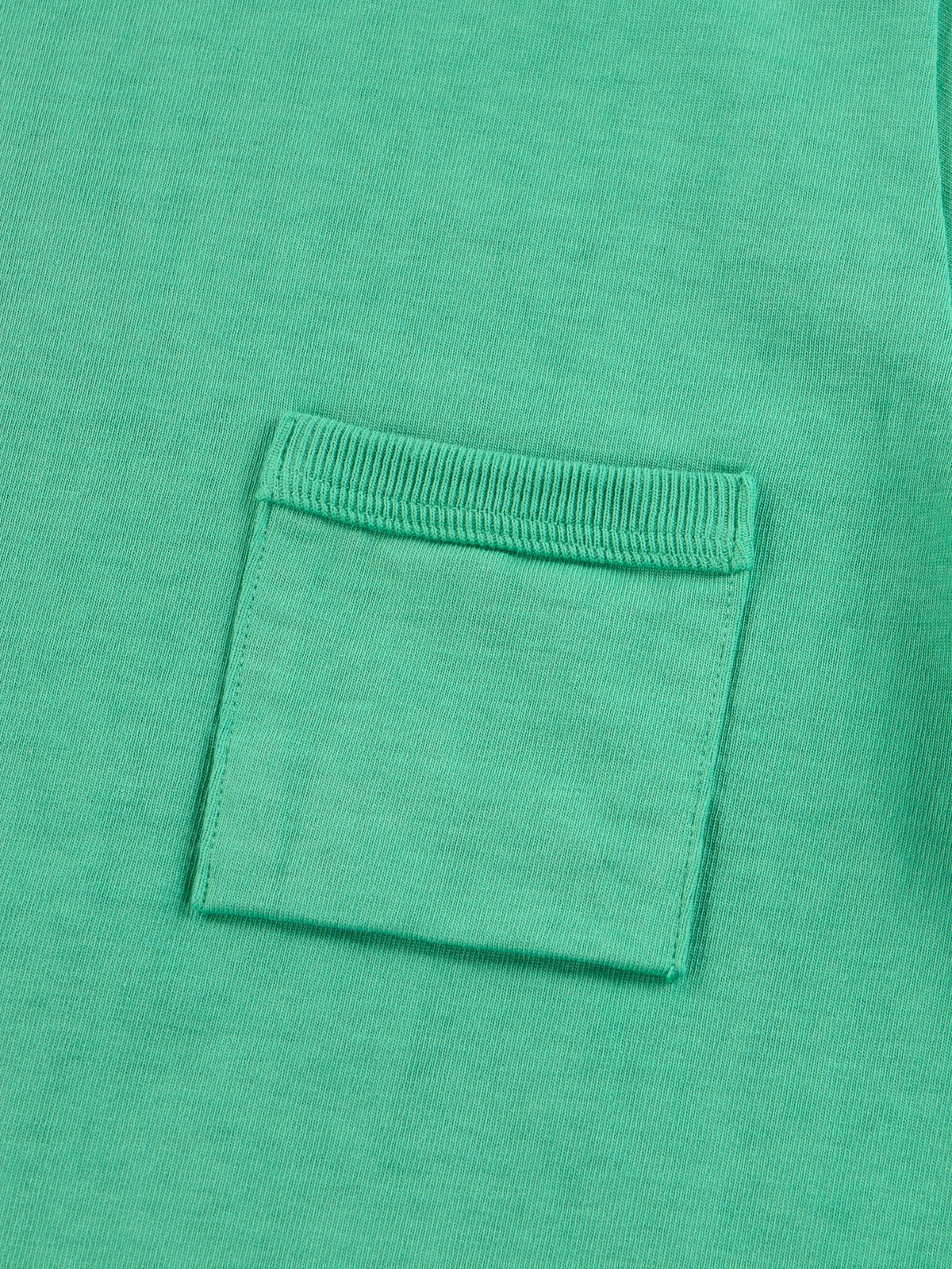 Kelly Green Dotsume Pocket T–Shirt - Image 5