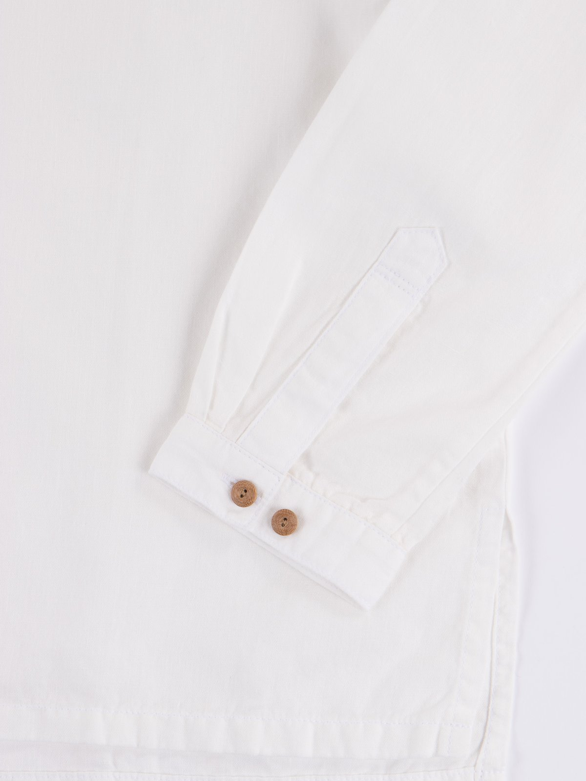 White Chambray Kerchief Tunic Shirt - Image 3