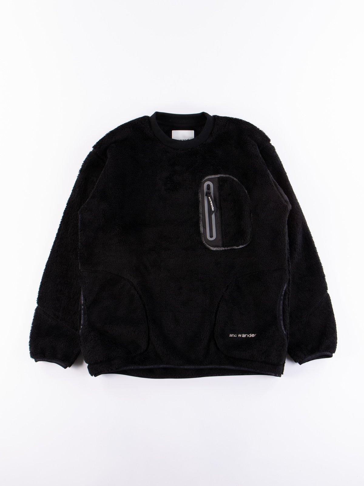 Black High Loft Fleece Pullover - Image 1