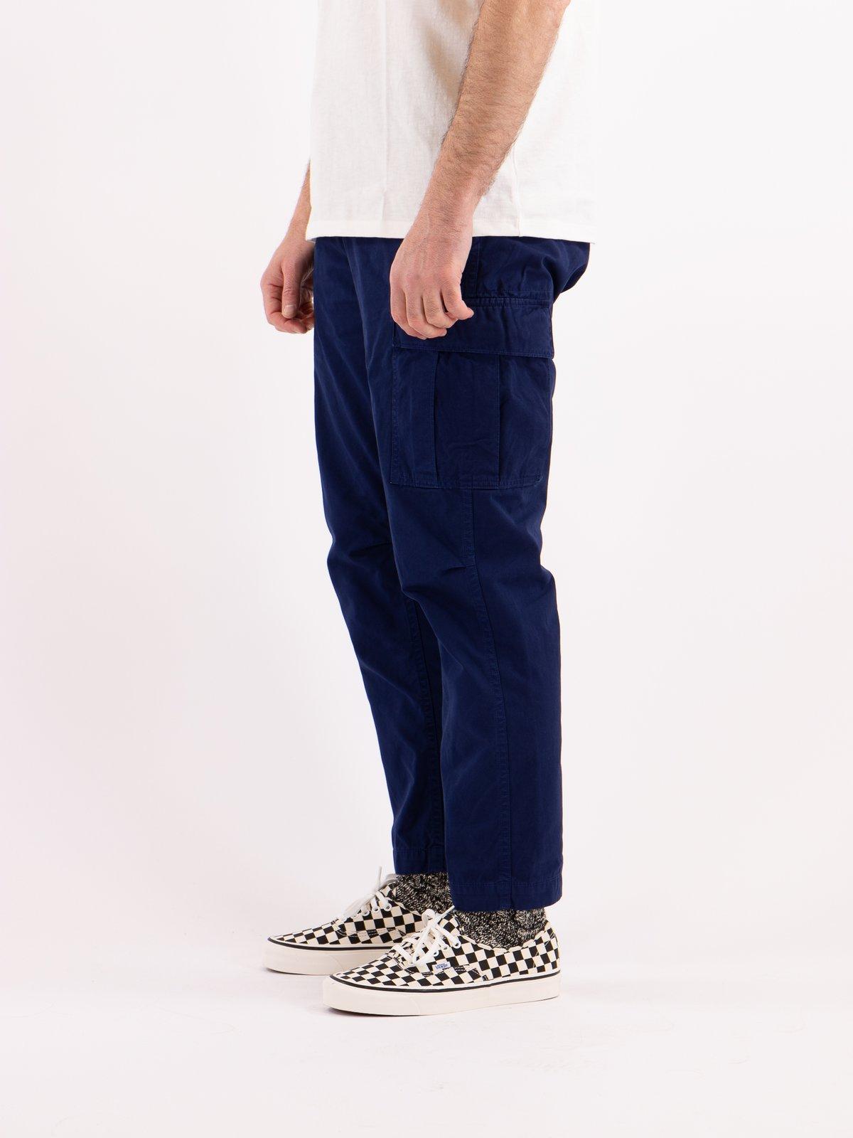 Ink Blue Poplin Easy Cargo Pant - Image 3