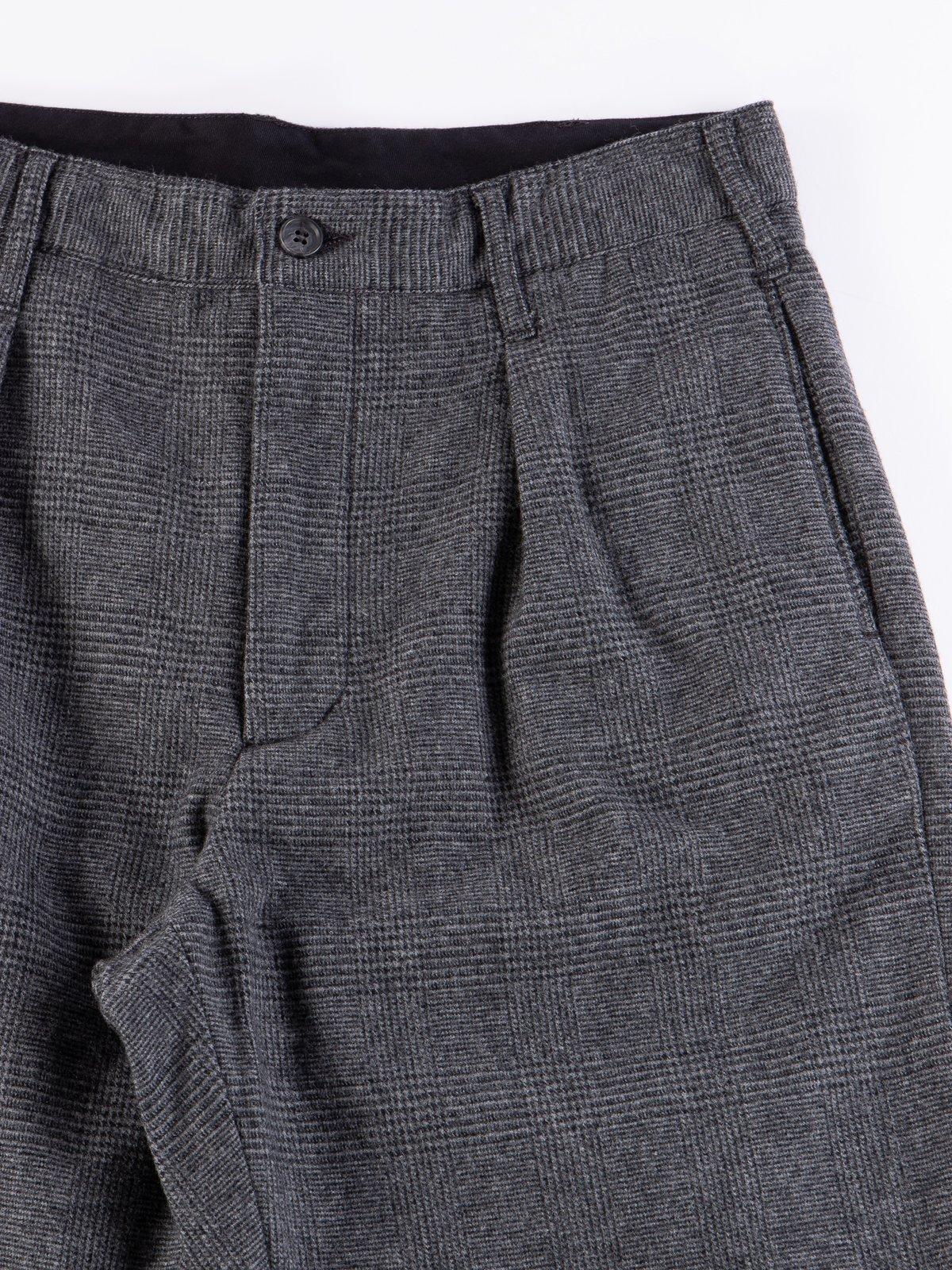 Grey Wool Glen Plaid Stripe Carlyle Pant - Image 3