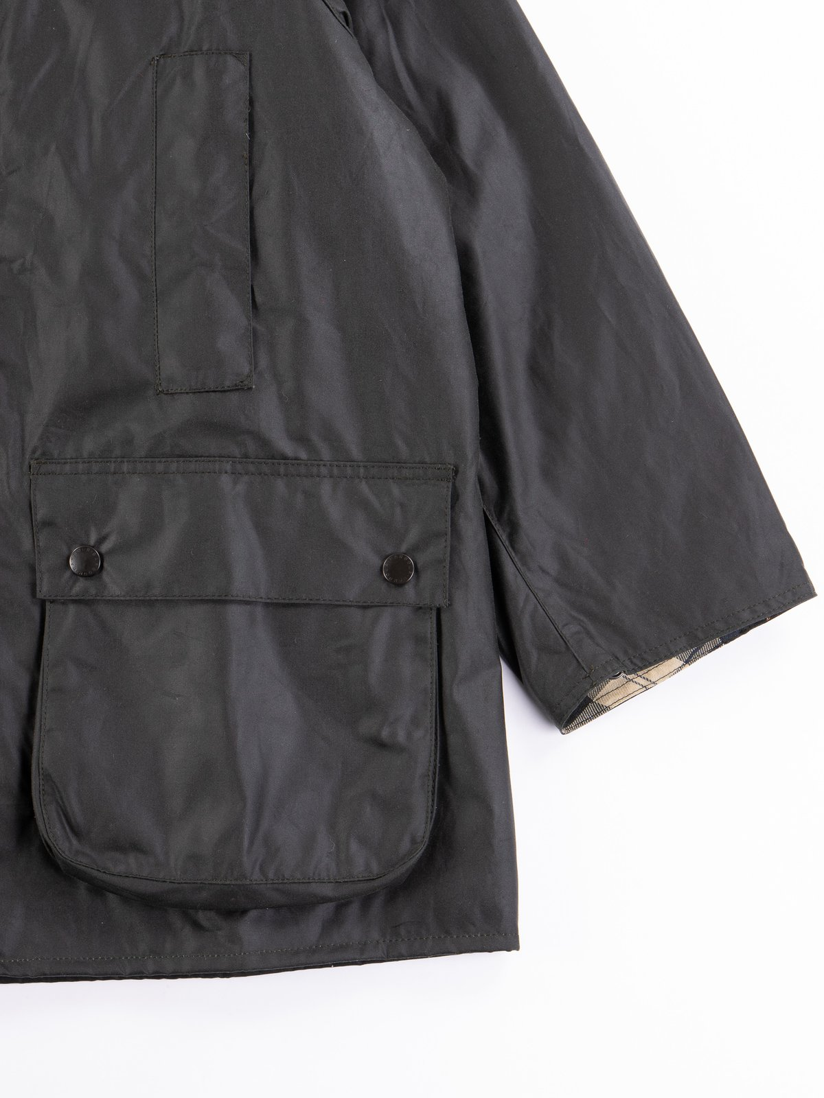 Sage Oversized Beaufort Waxed Cotton Jacket - Image 5