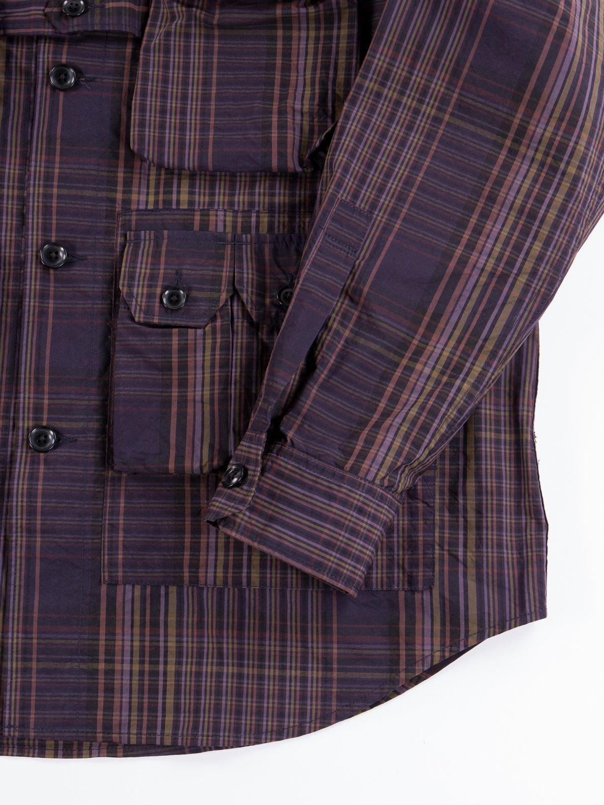 Multi Color Nyco Plaid Explorer Shirt Jacket - Image 5