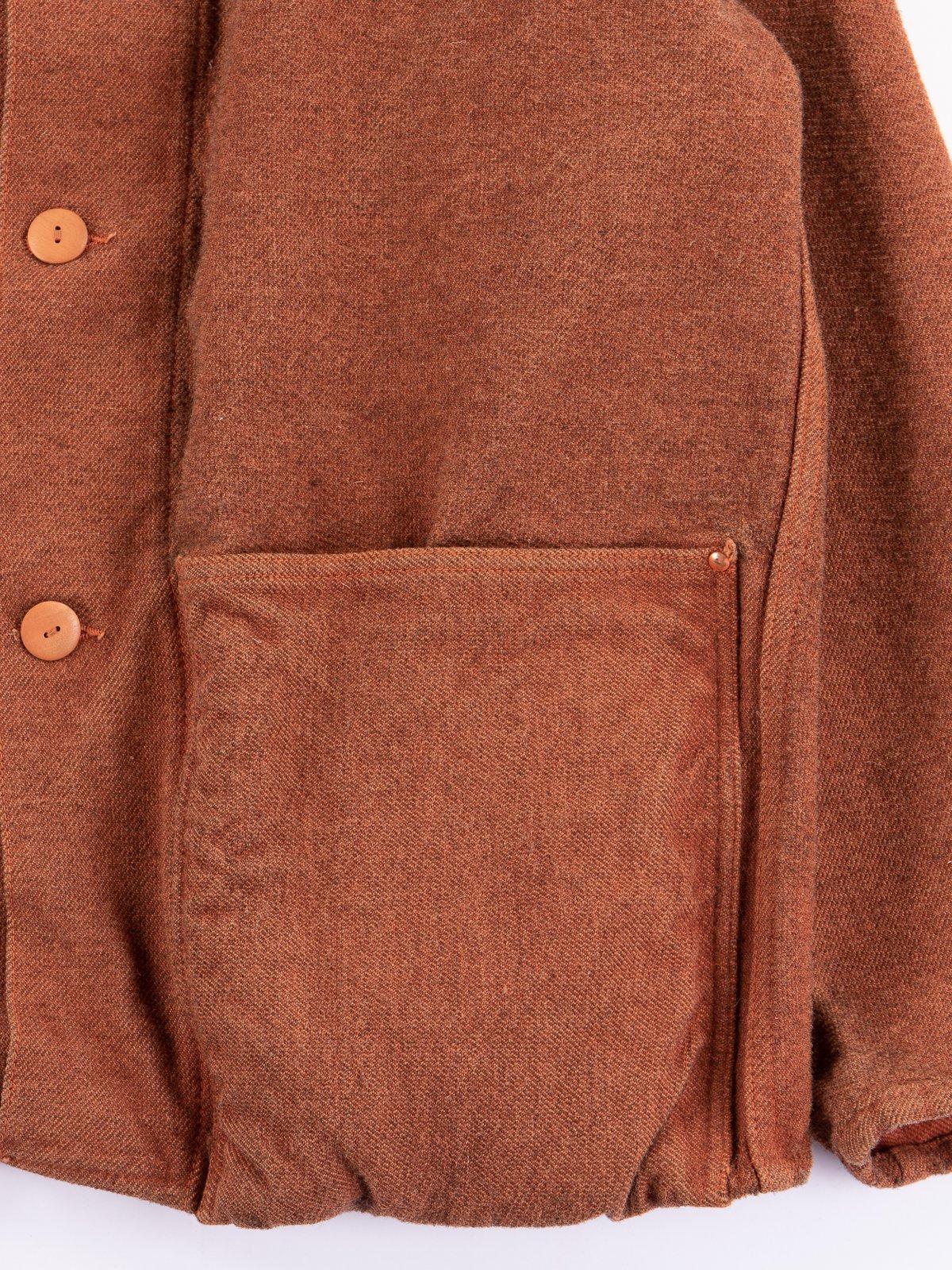 Red Ochre Dye Collared Shepherd's Coat - Image 4