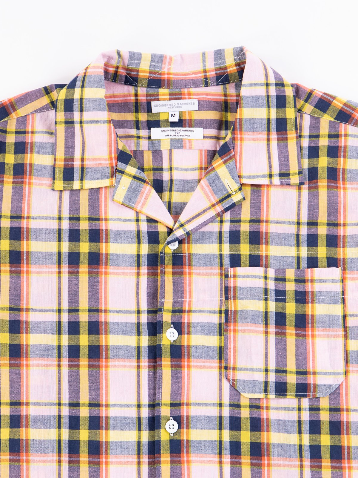 Pink/Yellow CL Madras Plaid Camp Shirt - Image 4