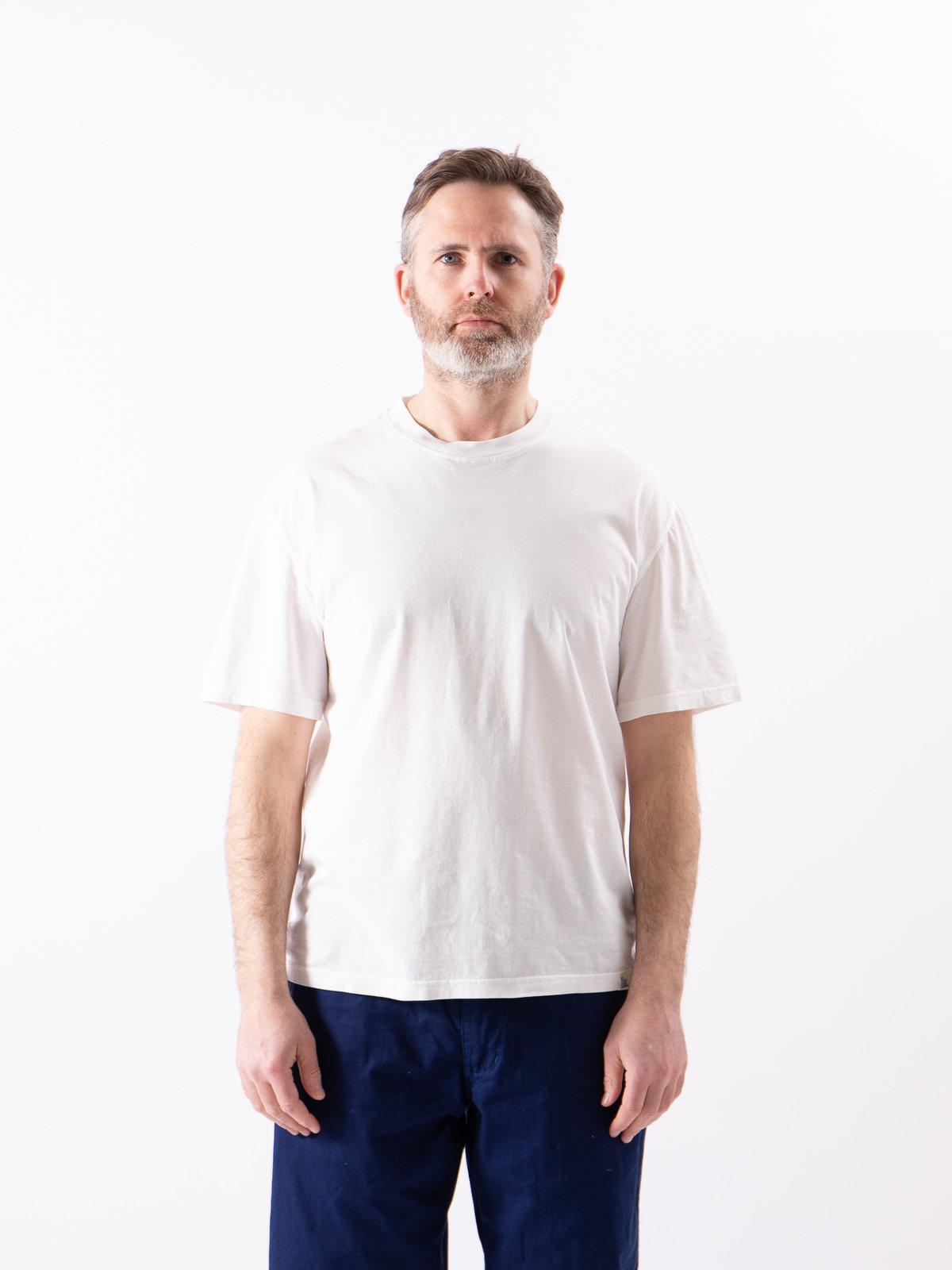 White Good Basics CTOS01 Oversized Crew Neck Tee - Image 2