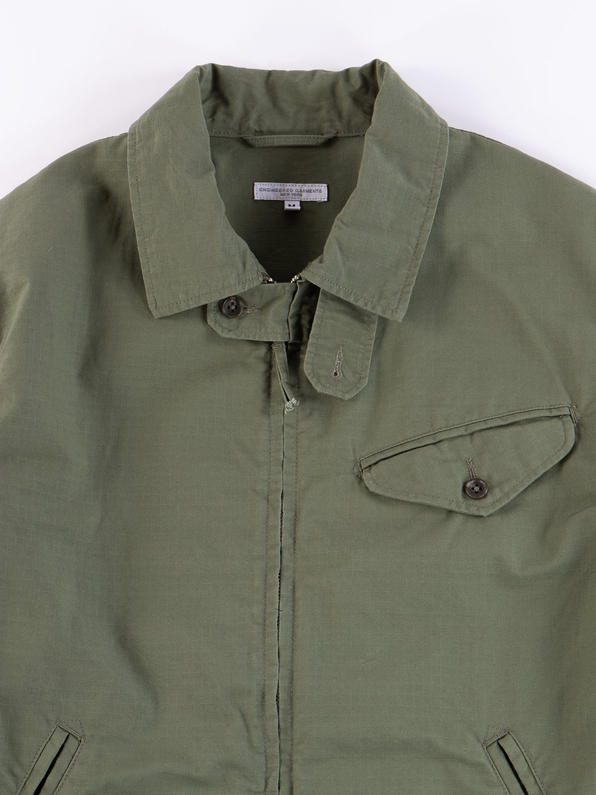 Olive Cotton Ripstop Driver Jacket - Image 3