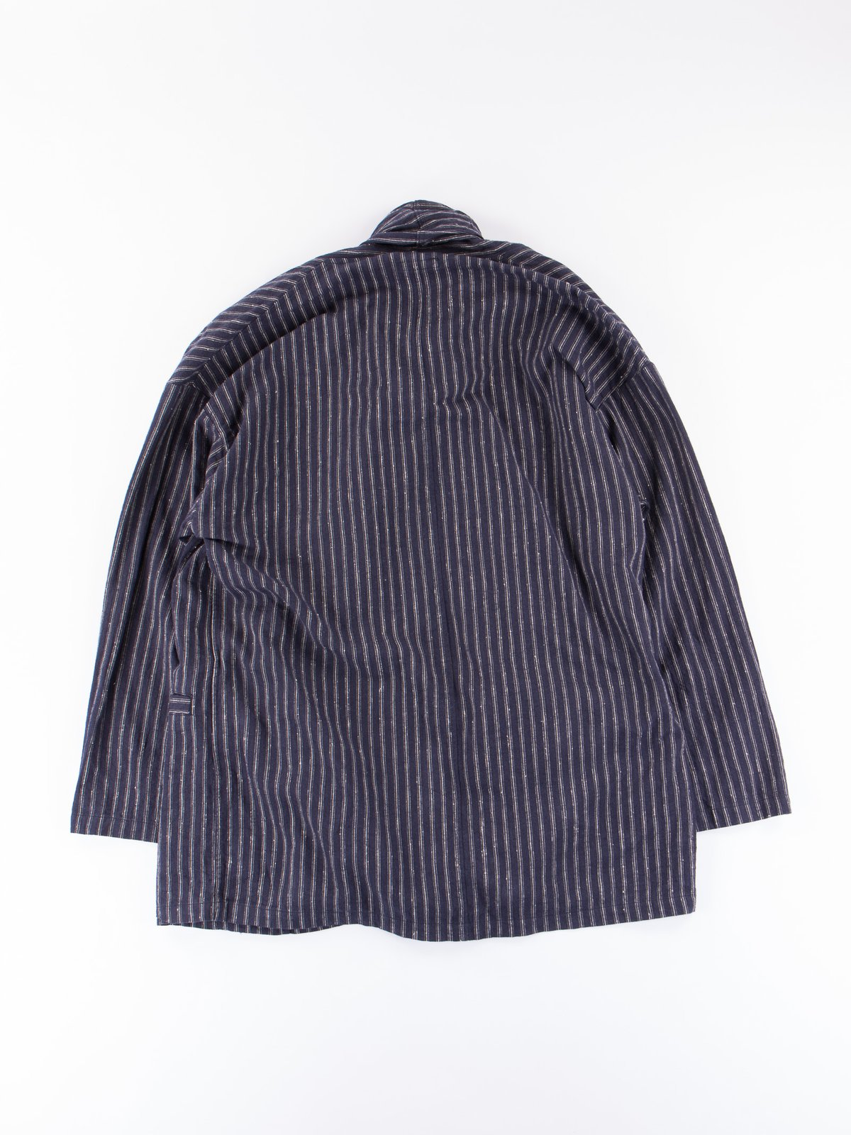 Dark Navy Stripe Robe Jacket - Image 5