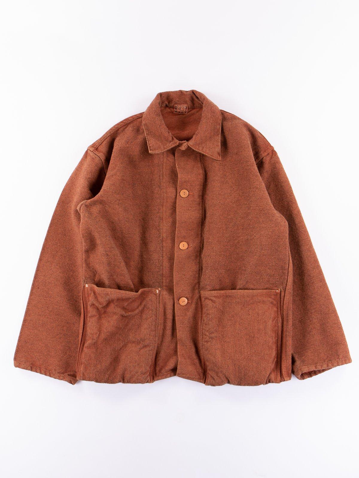 Red Ochre Dye Collared Shepherd's Coat - Image 1
