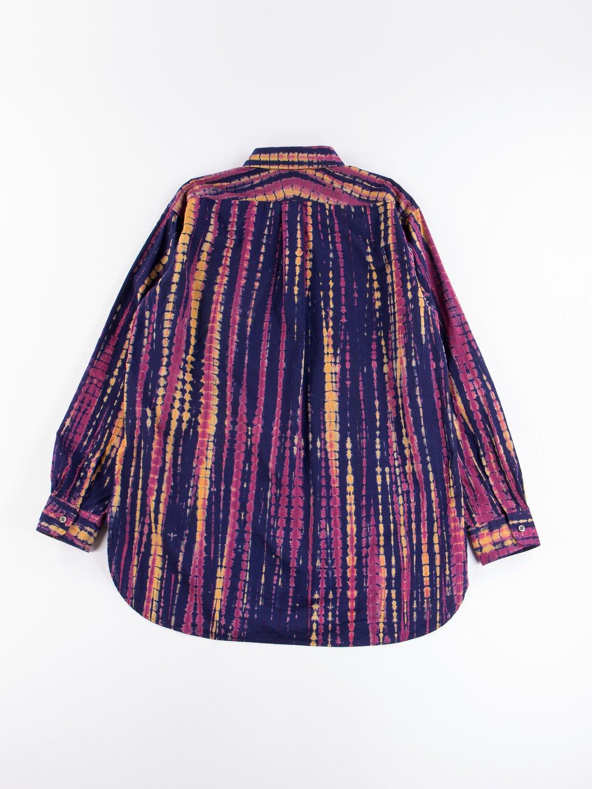 Navy Cotton Lawn Batik Stripe 19th Century BD Shirt - Image 5