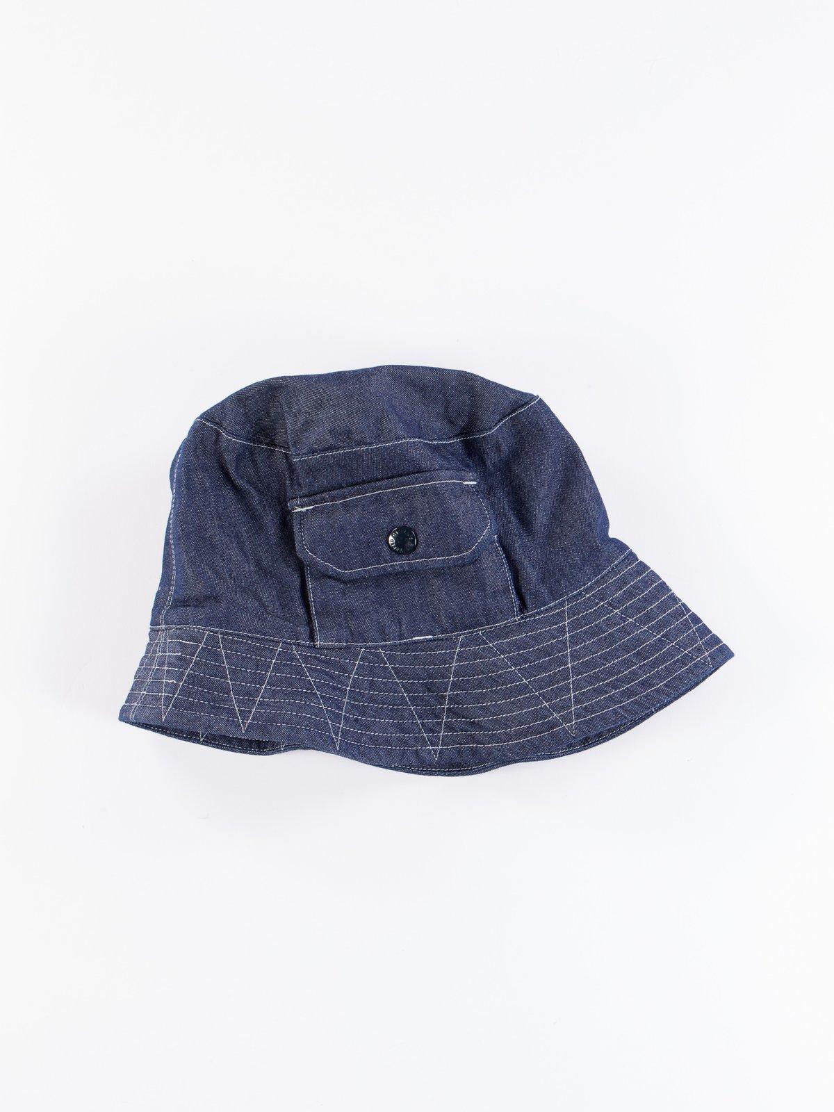 Indigo 8oz Cone Denim Explorer Hat - Image 2