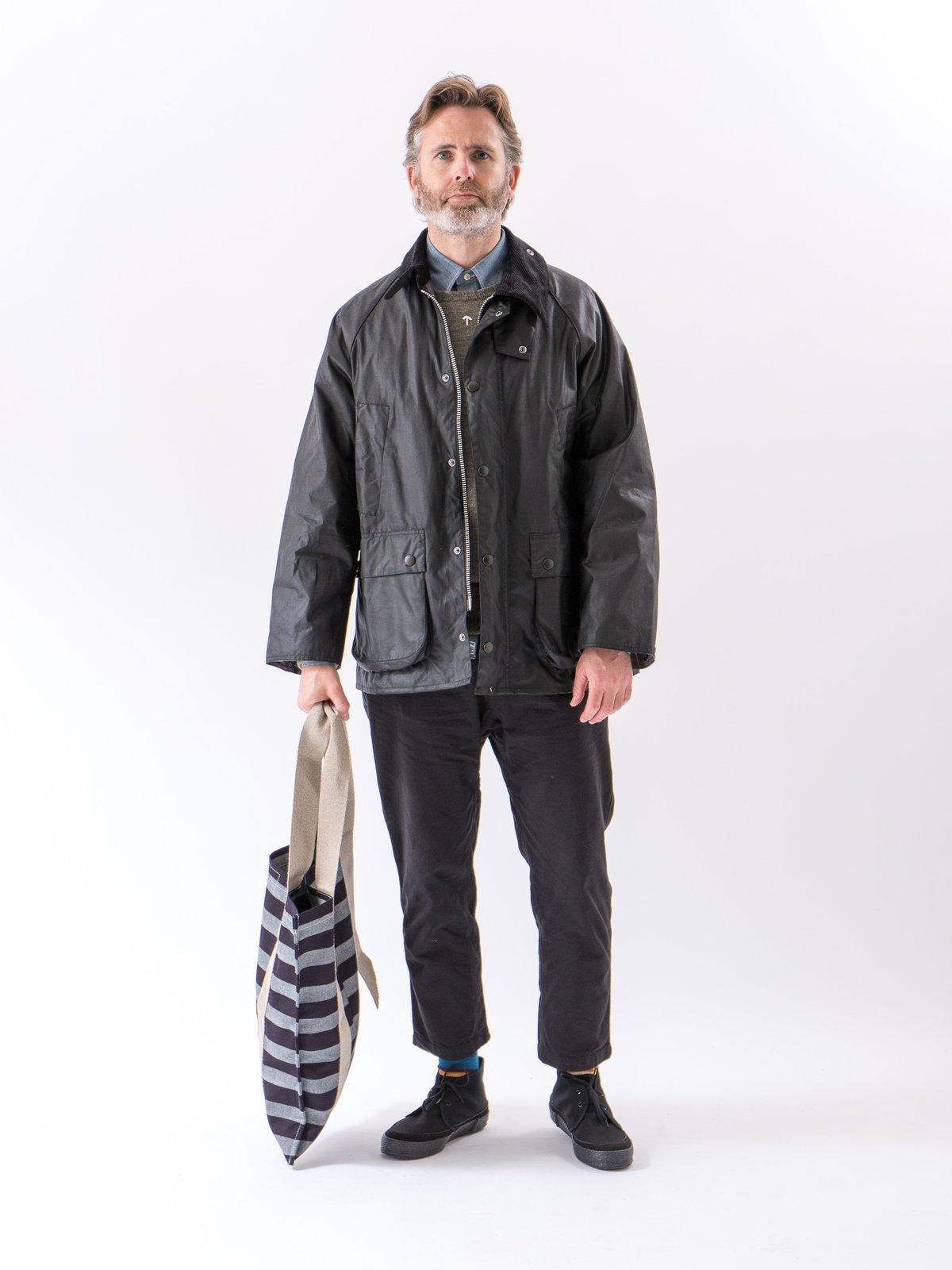 Bold Indigo Weaver's Blanket Stripe One–Strap Tote Bag - Image 2
